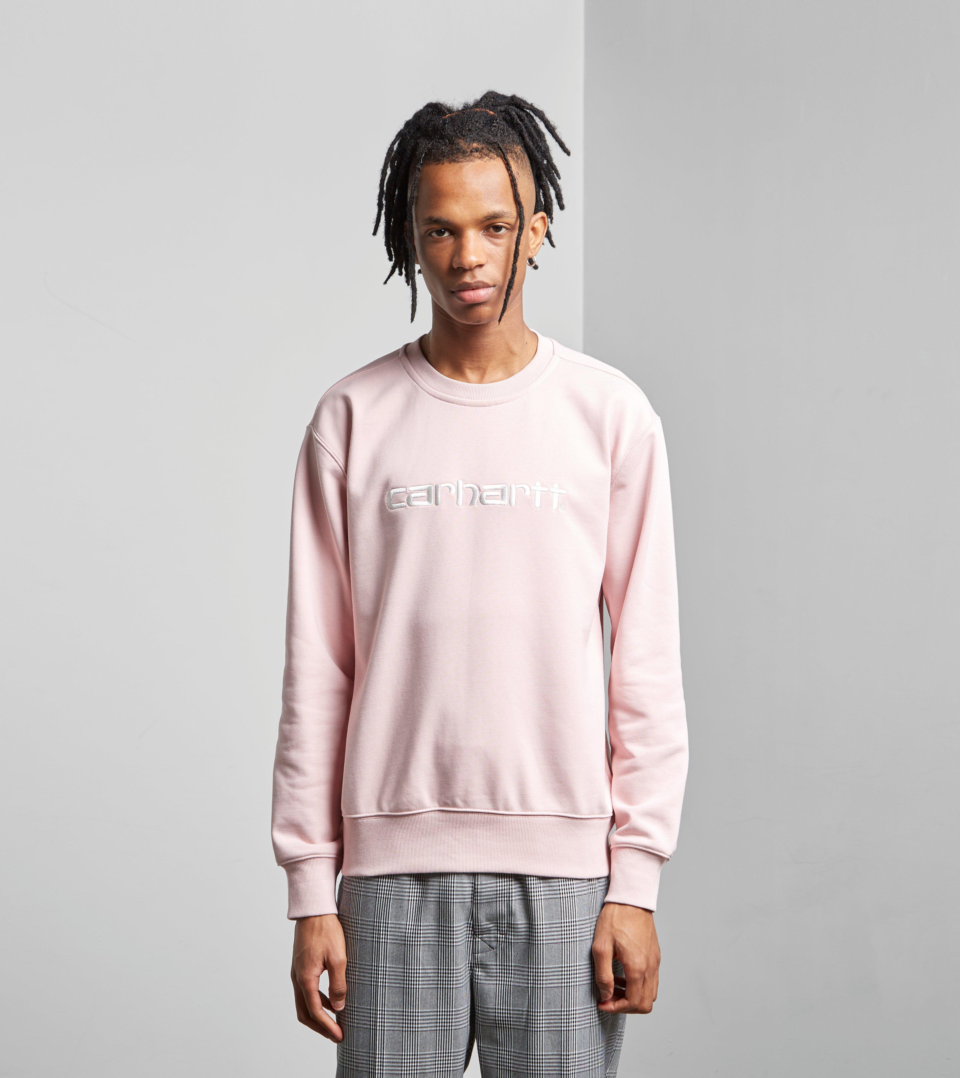 Carhartt Wip Big Script Sweatshirt in Pink for Men - Lyst 7f641cbd8db9