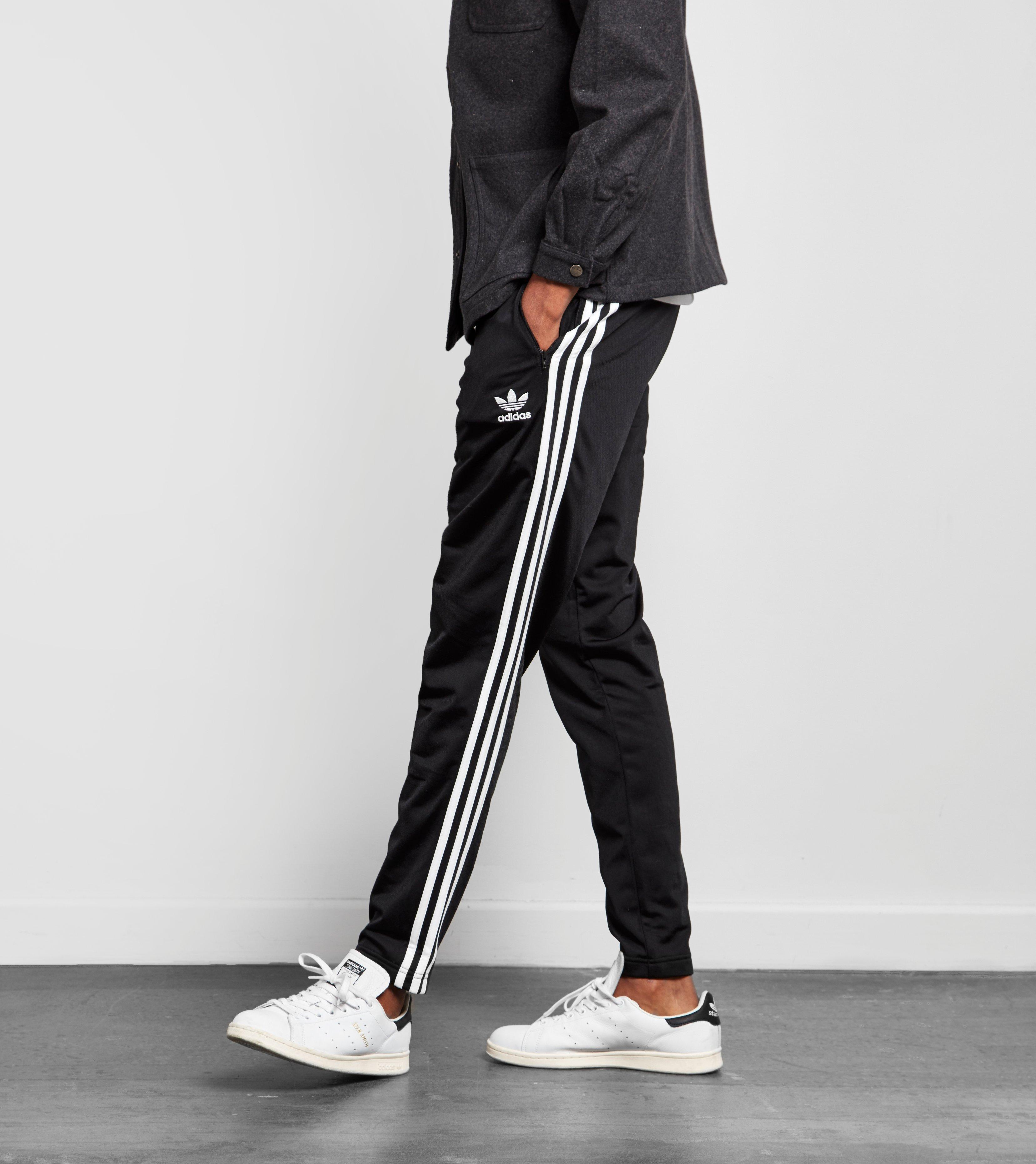 Adidas Originals Black Superstar Taper Track Pants for men