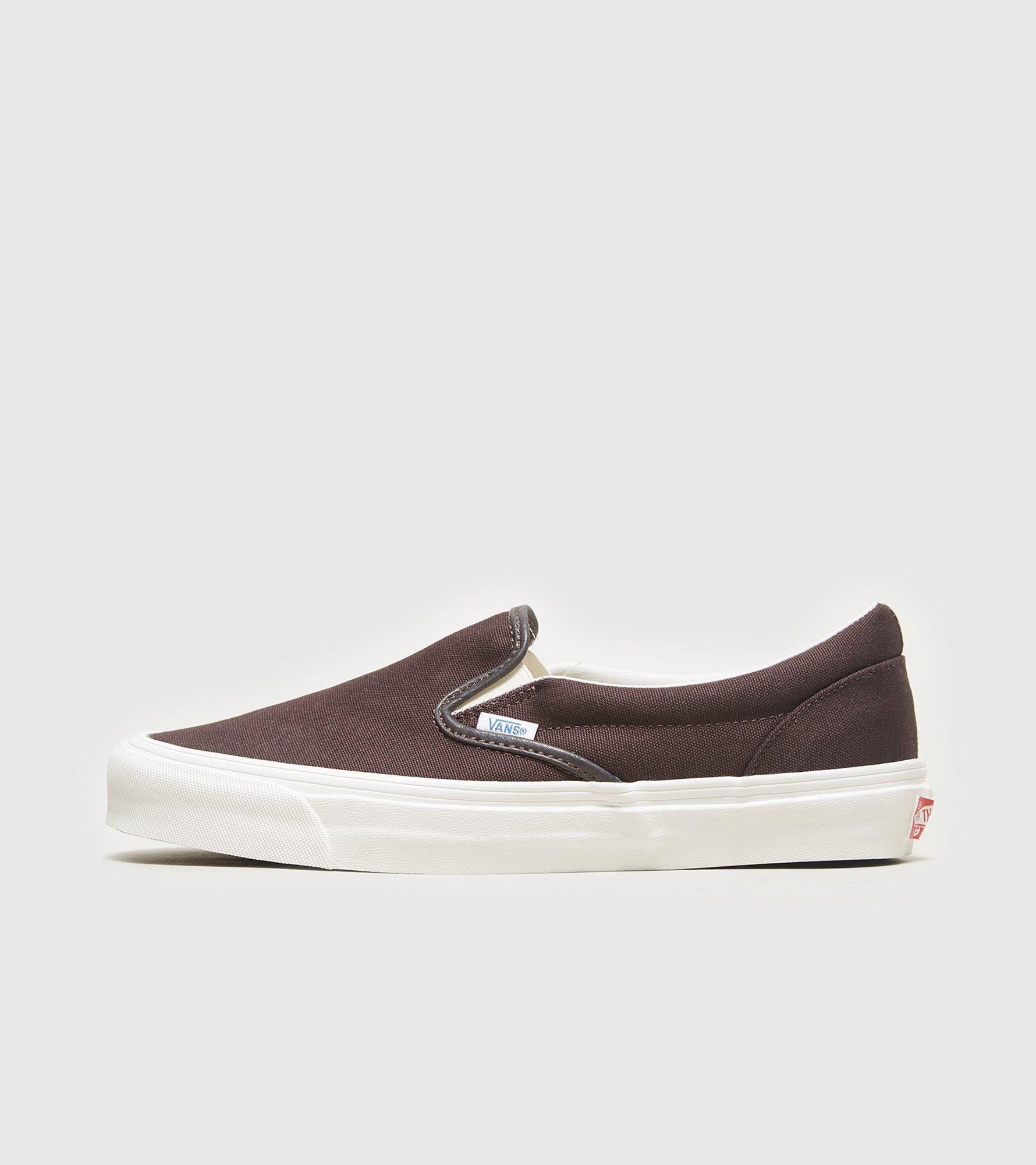 Gucci License Plate >> Vans Vault Og Classic Slip-on in Brown for Men | Lyst