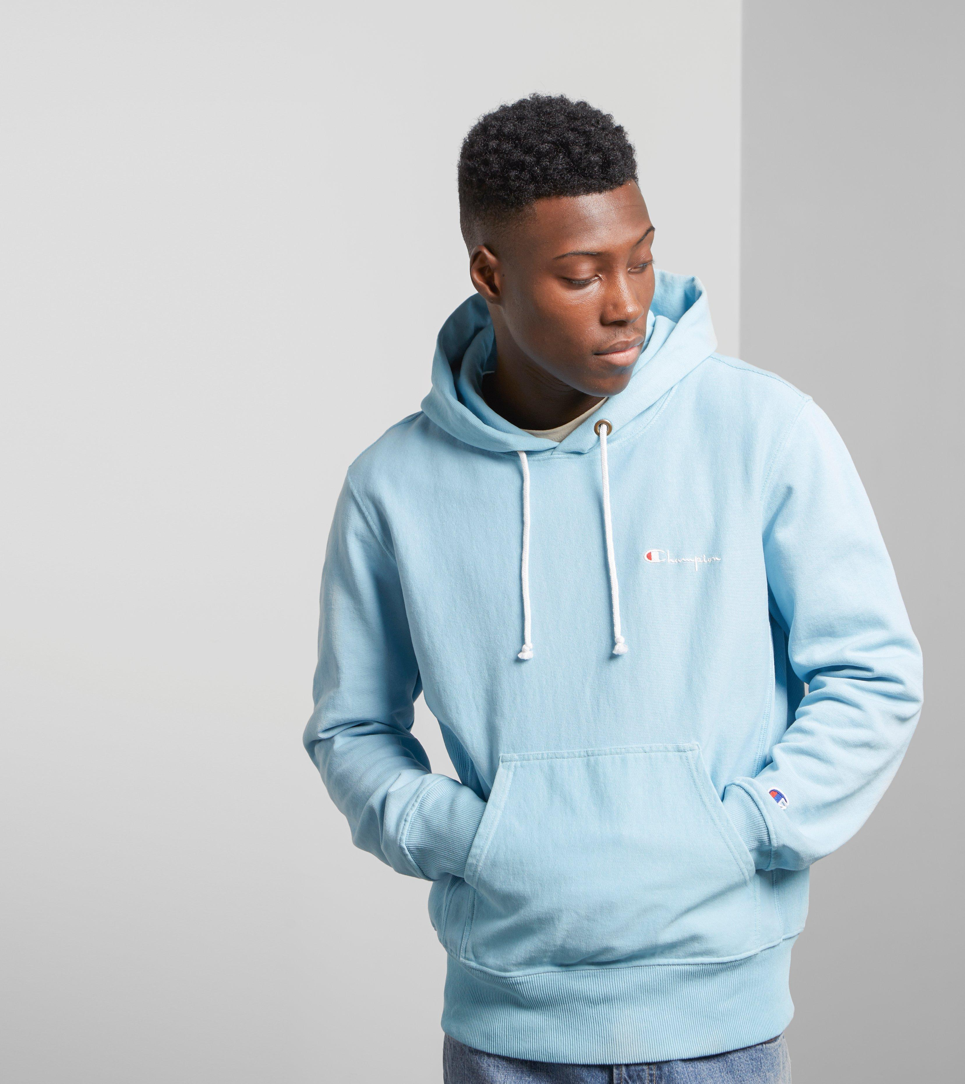 Champion Garment Dyed Hoody - Size? Exclusive in Blue for ...