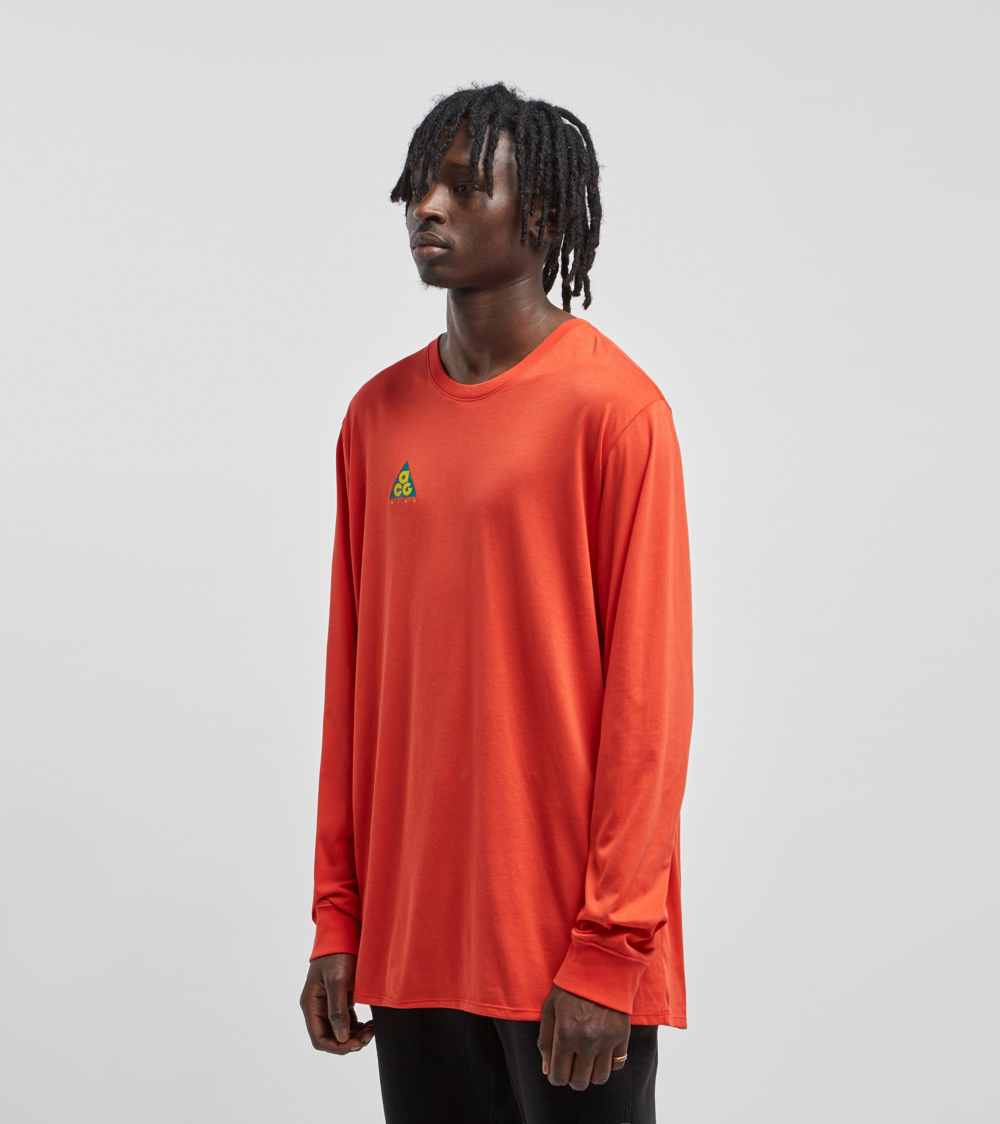 d6ffc9e8 Nike - Red Acg Long-sleeved T-shirt for Men - Lyst. View fullscreen