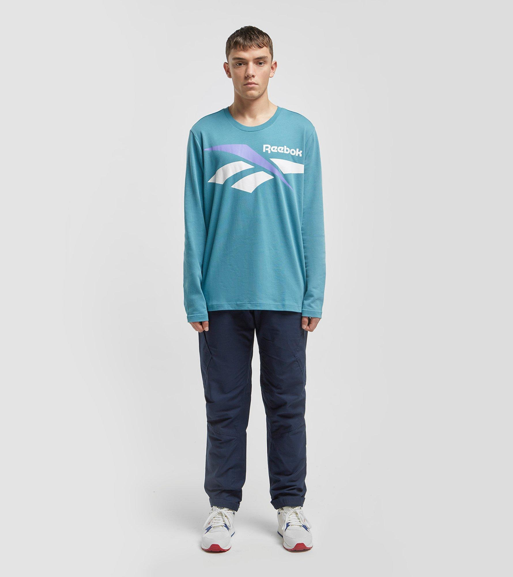 0eb431c15bb Lyst - Reebok Classic Vector Long Sleeved T-shirt in Green for Men