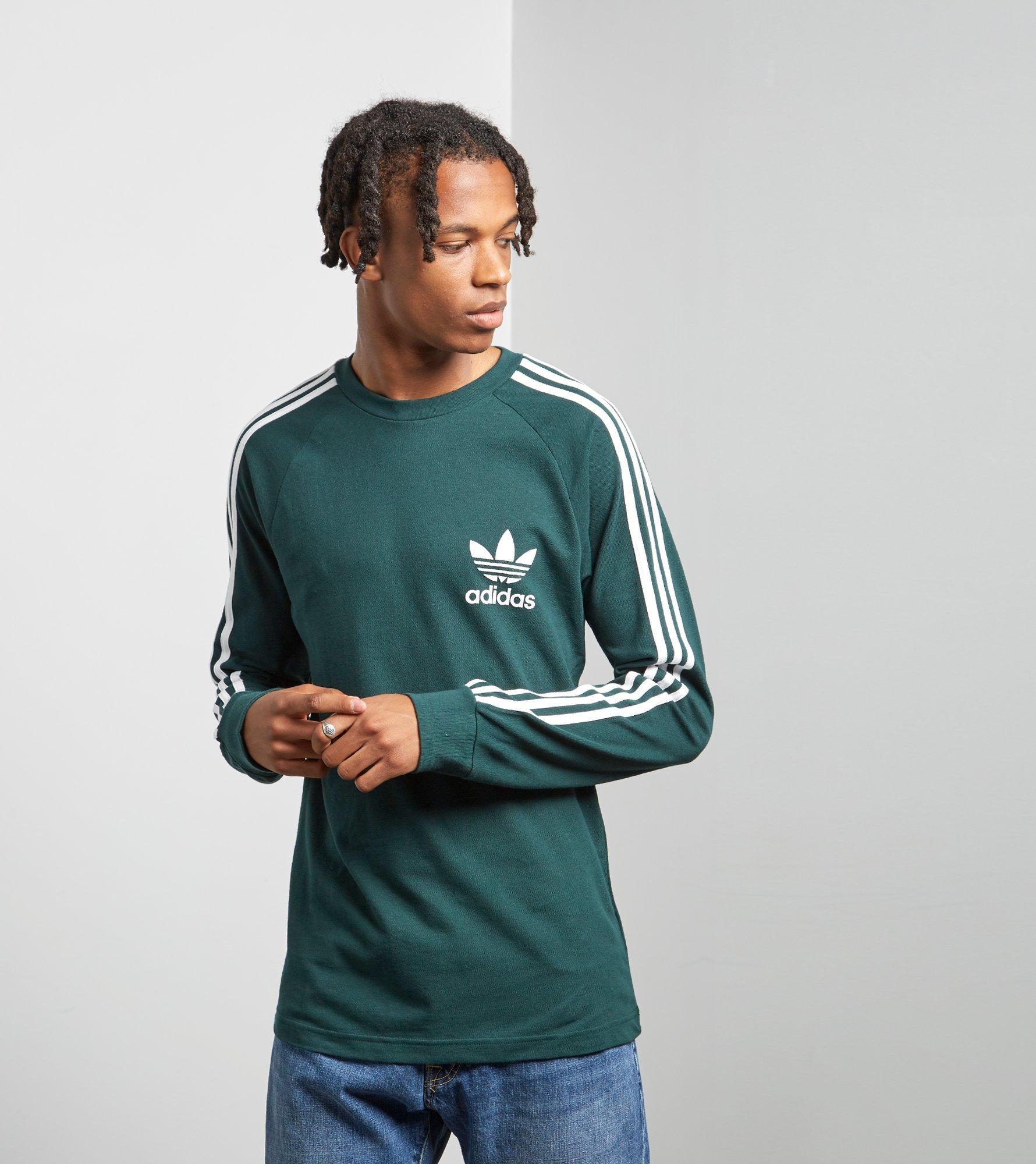 b0336152188f8 adidas Originals Long Sleeve California Pique T-shirt in Green for ...