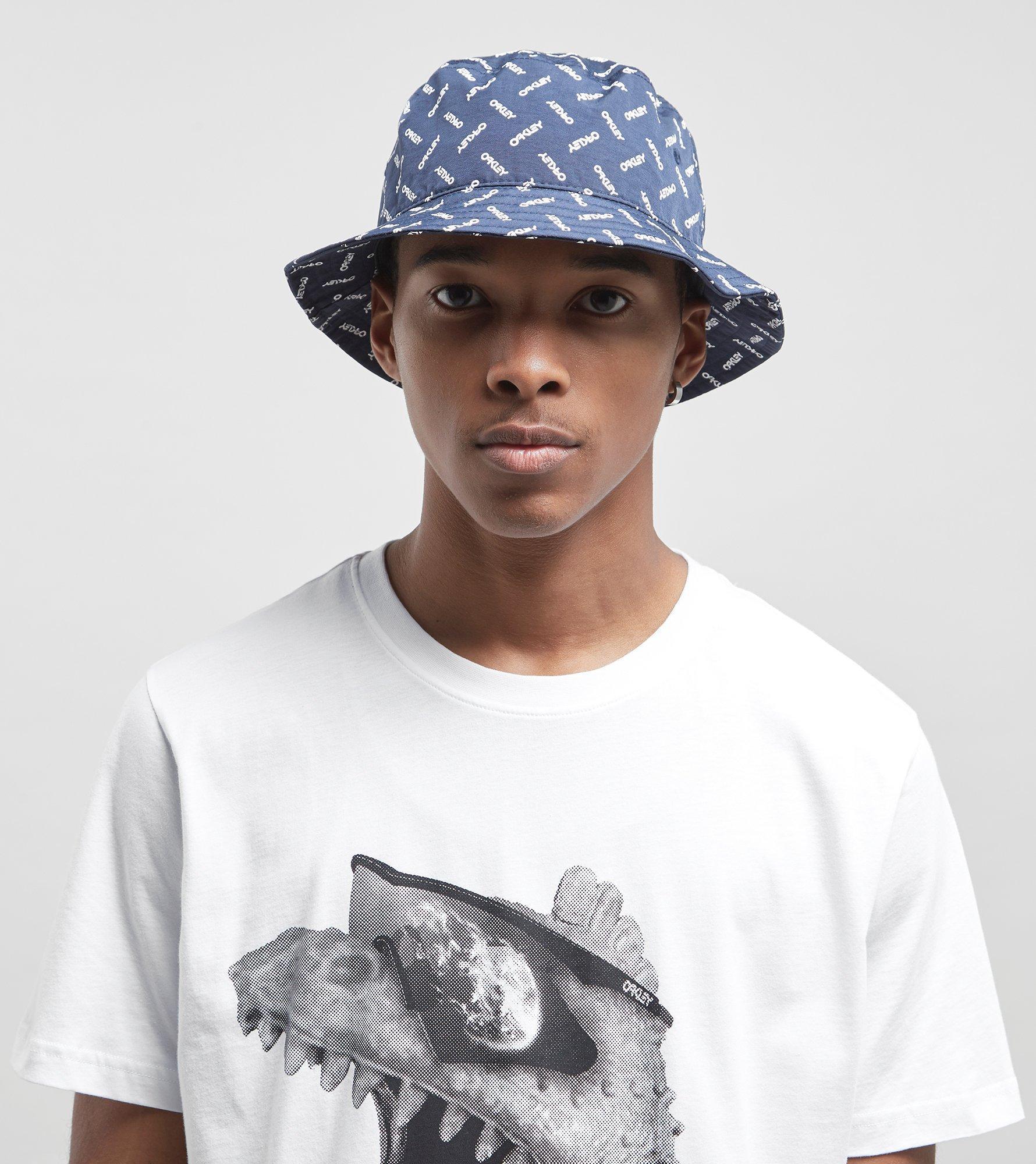 Lyst - Oakley Logo Bucket Hat in Blue for Men f3148b3c64f