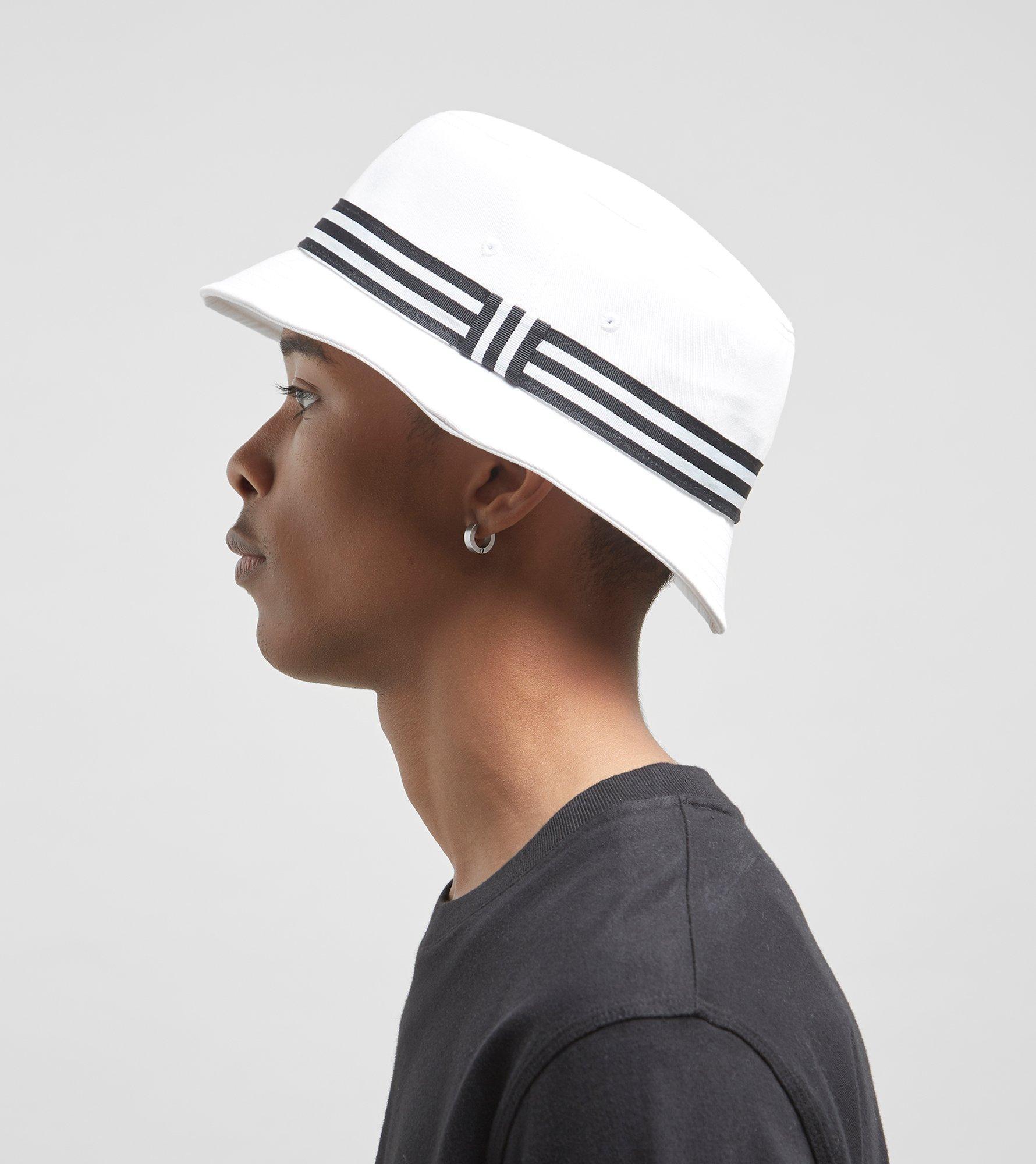 2c7f9e03fe2 Lyst - adidas Originals Trefoil Logo Bucket Hat in White for Men