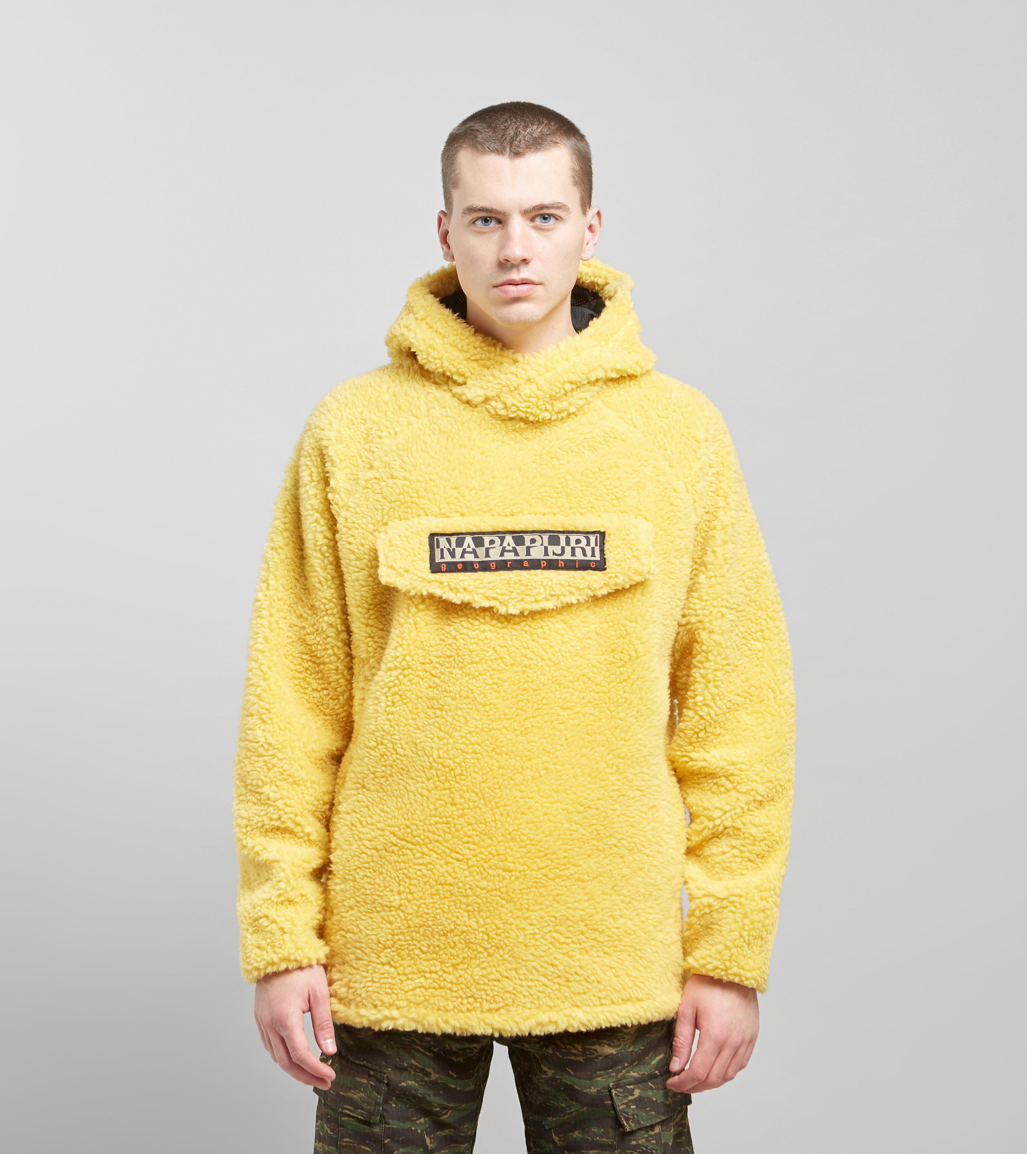 Napapijri Telve Fleece Hoody in Yellow for Men - Lyst 32dd5ffd905
