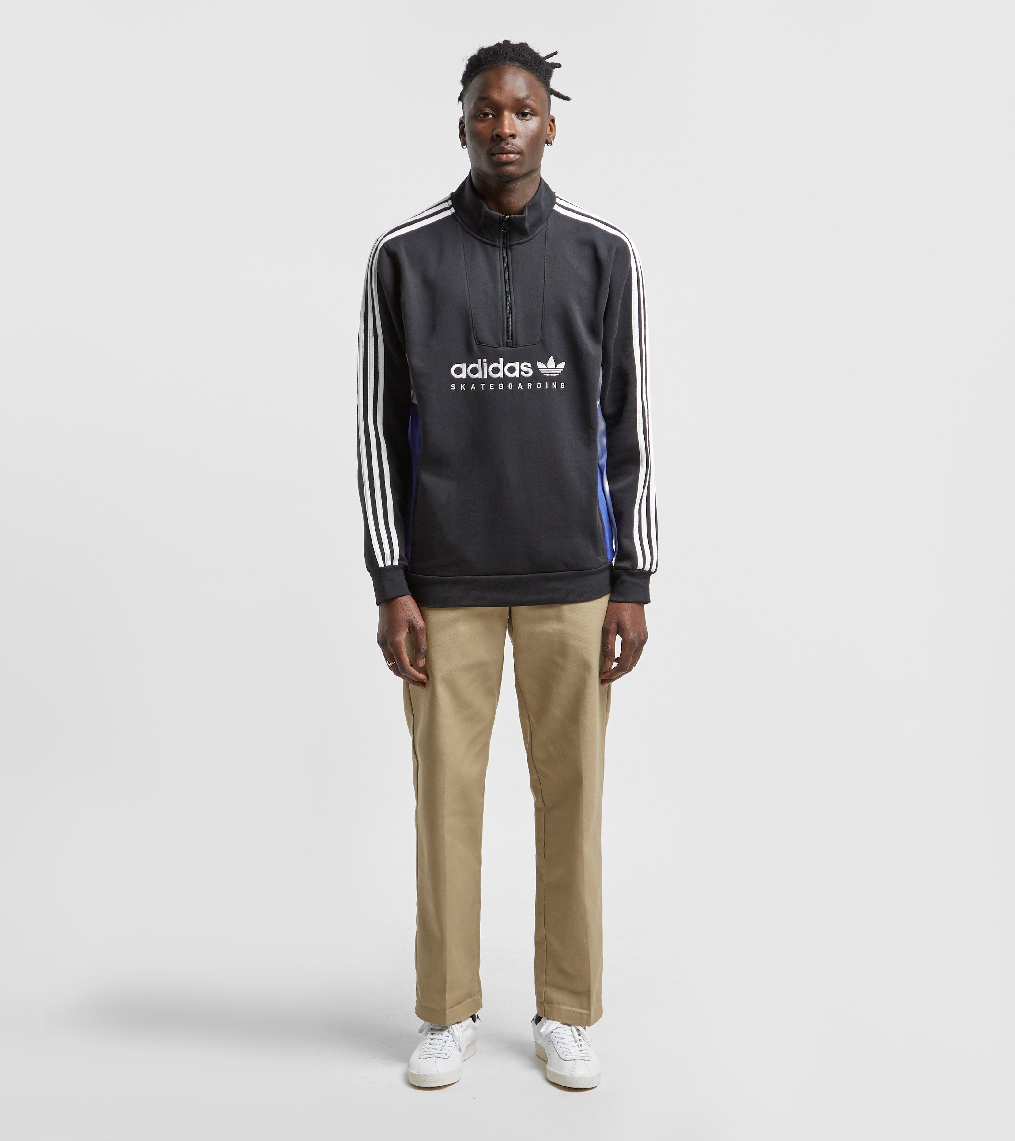 20ee0eb29 Lyst - adidas Originals Apian Pullover Half Zip Sweatshirt in Black ...