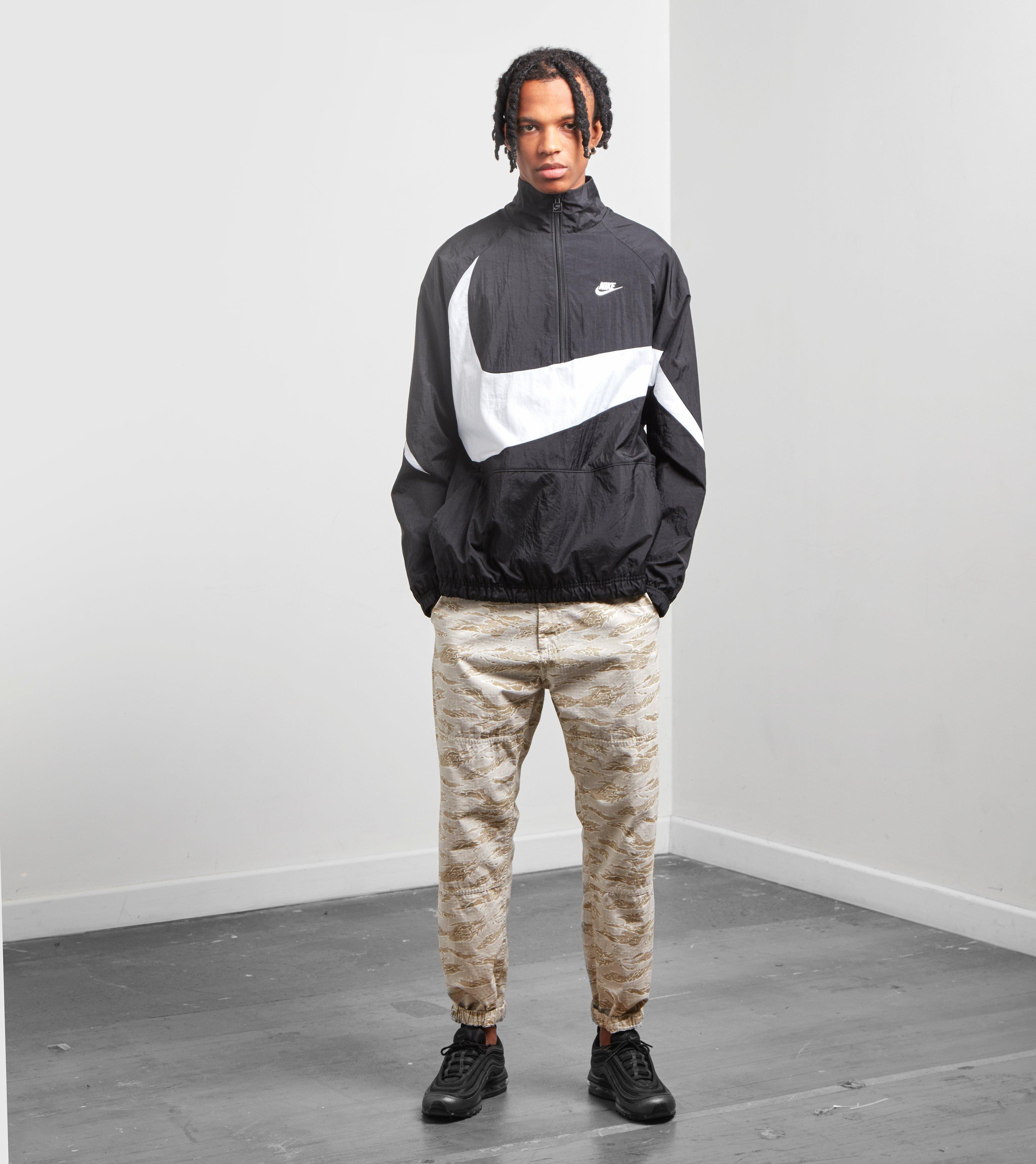 huge selection of f00de 01643 Lyst - Nike Swoosh Half Zip Woven Jacket in Black for Men