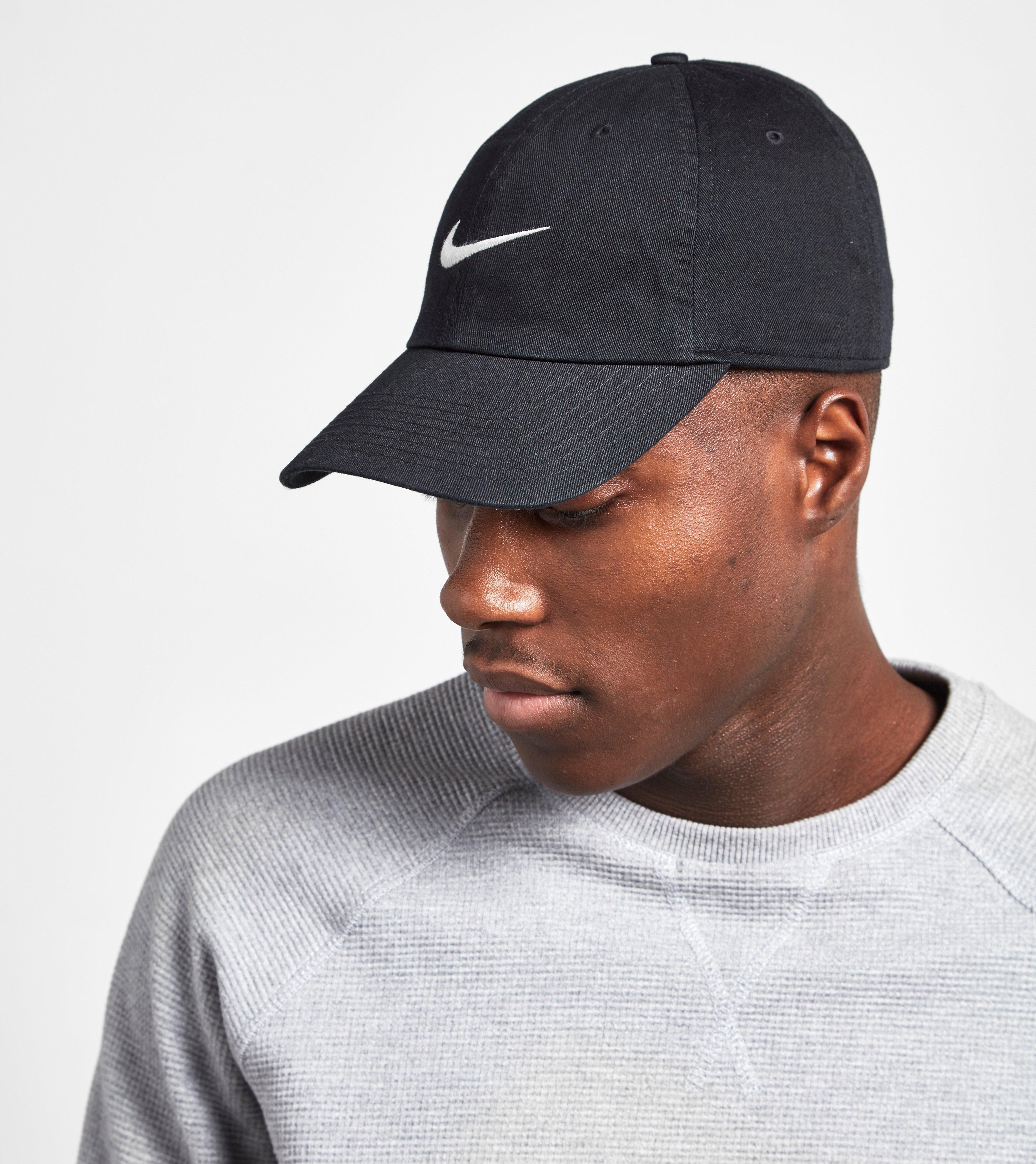 a4035738d Lyst - Nike Heritage Swoosh Cap in Black for Men