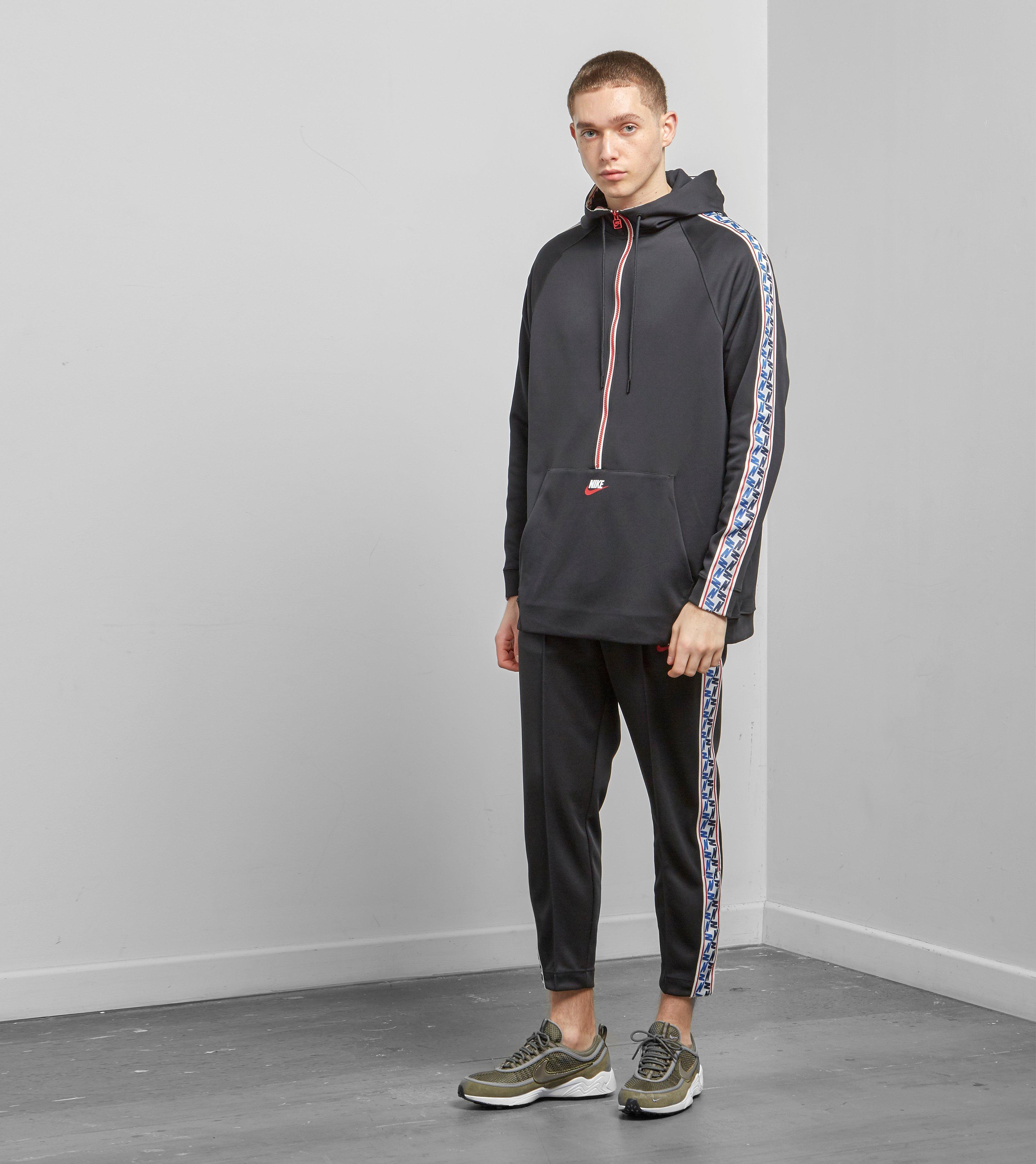 442885c684 Nike Half Zip Taped Poly Hoodie in Black for Men - Lyst