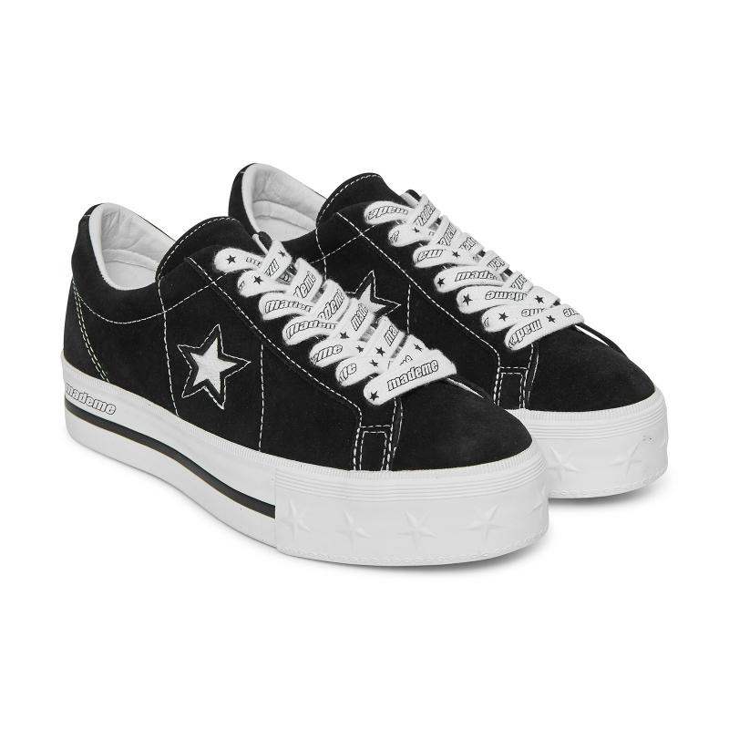 1a502a23d9b9 Converse X Mademe One Star Platform Sneakers Black in Black - Lyst