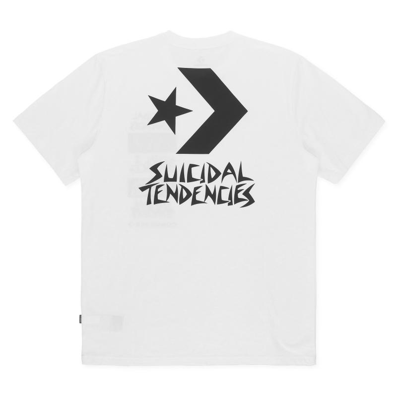 b398ca890b314f Converse - White T-shirt X Suicidal Tendencies for Men - Lyst. View  fullscreen