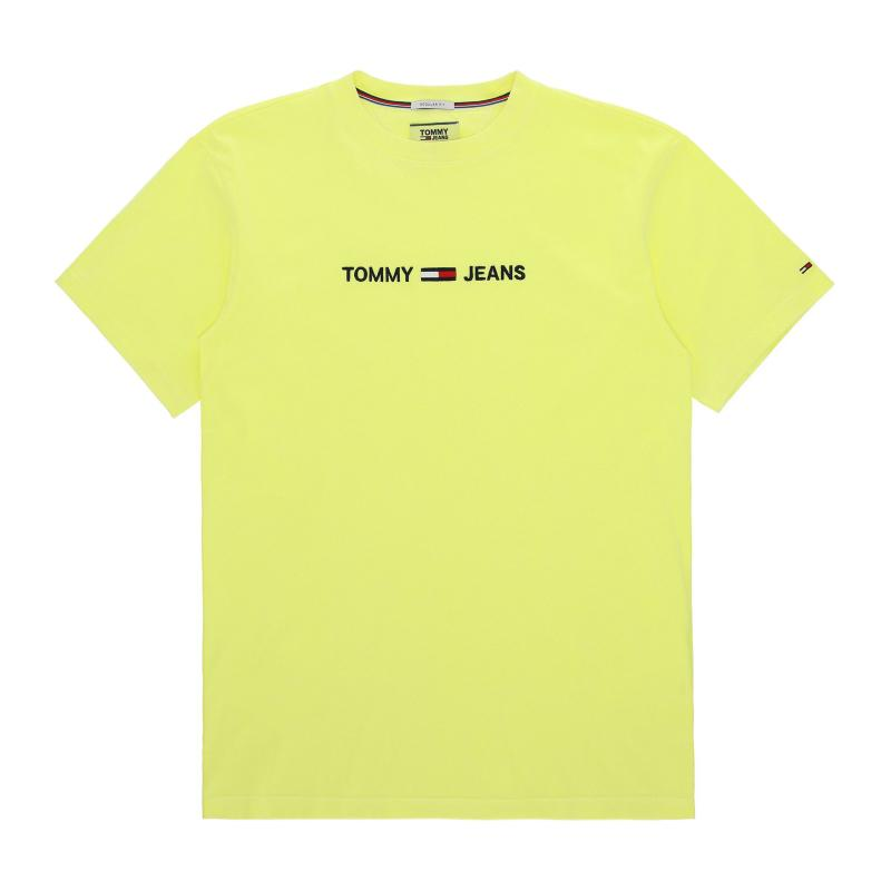 eb27b8ef2d Tommy Hilfiger. Men's Yellow Small Text T-shirt. £35 From Slam Jam Socialism