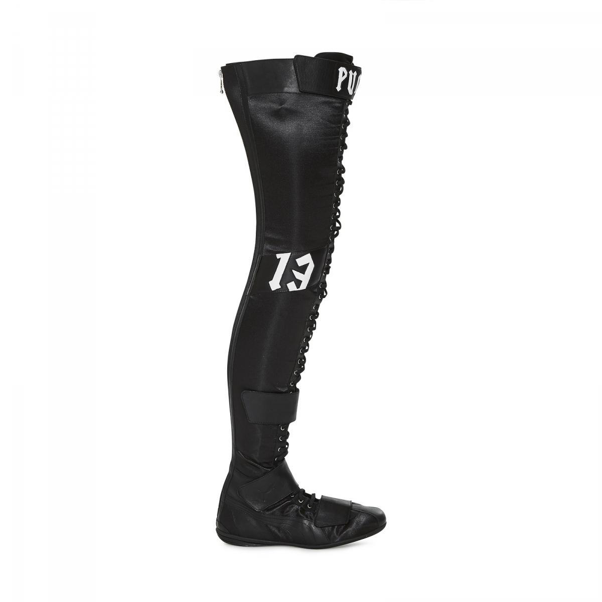 c1ccb354b PUMA Fenty By Rihanna X Eskiva Otk Satin Boot in Black - Lyst