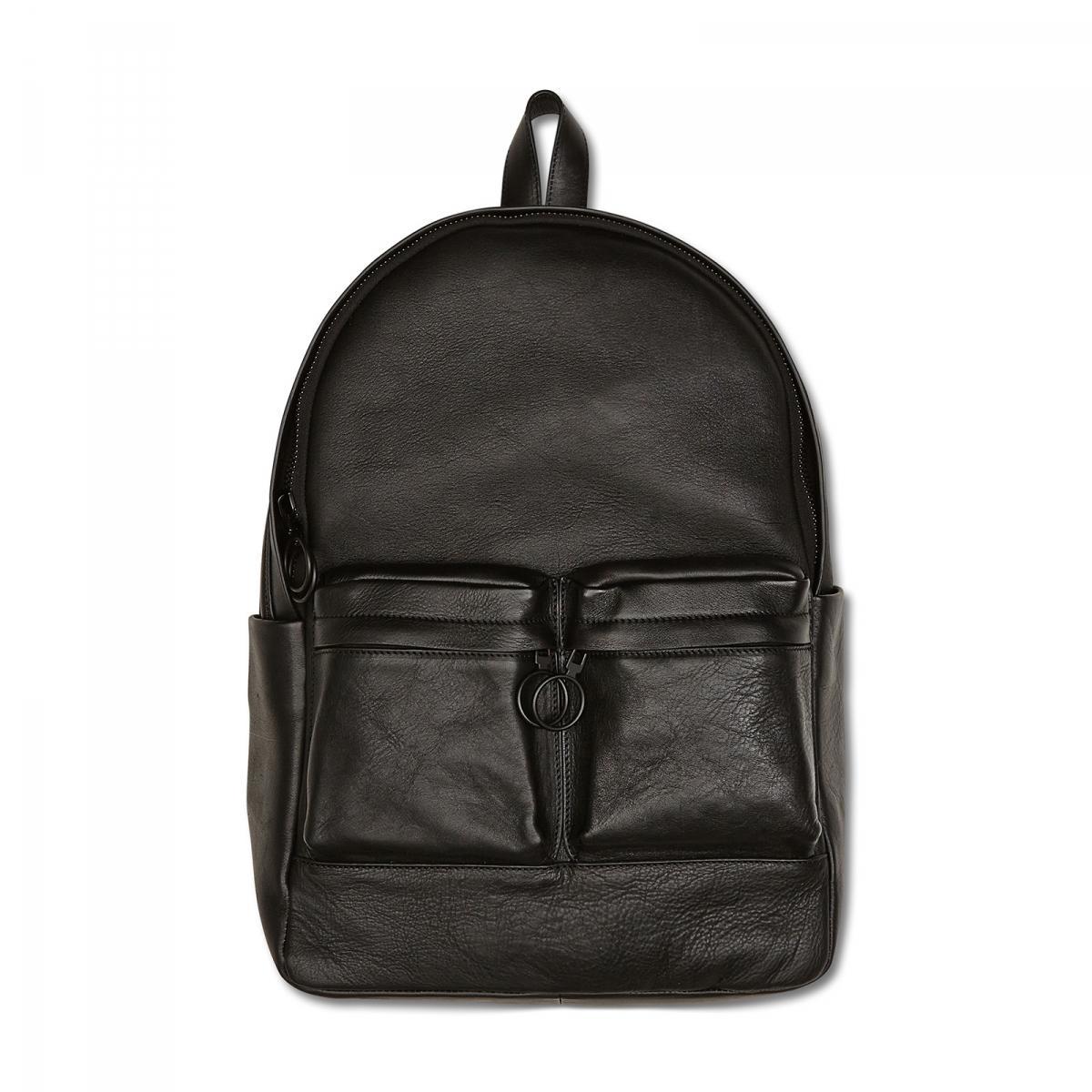 off white c o virgil abloh leather backpack in black lyst. Black Bedroom Furniture Sets. Home Design Ideas