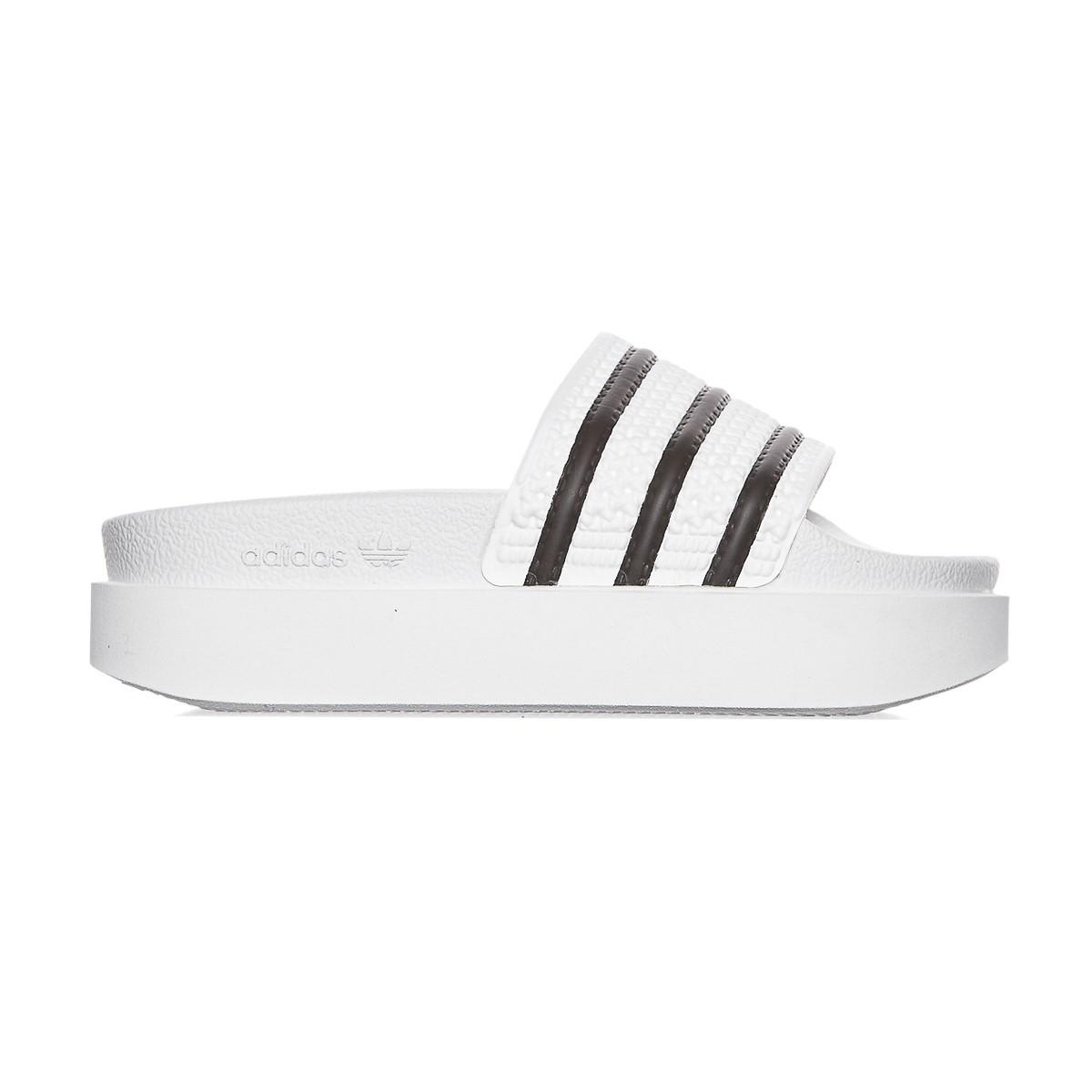 7c2602b567d Lyst - adidas Originals Adilette Bold Slide Sandals in Black