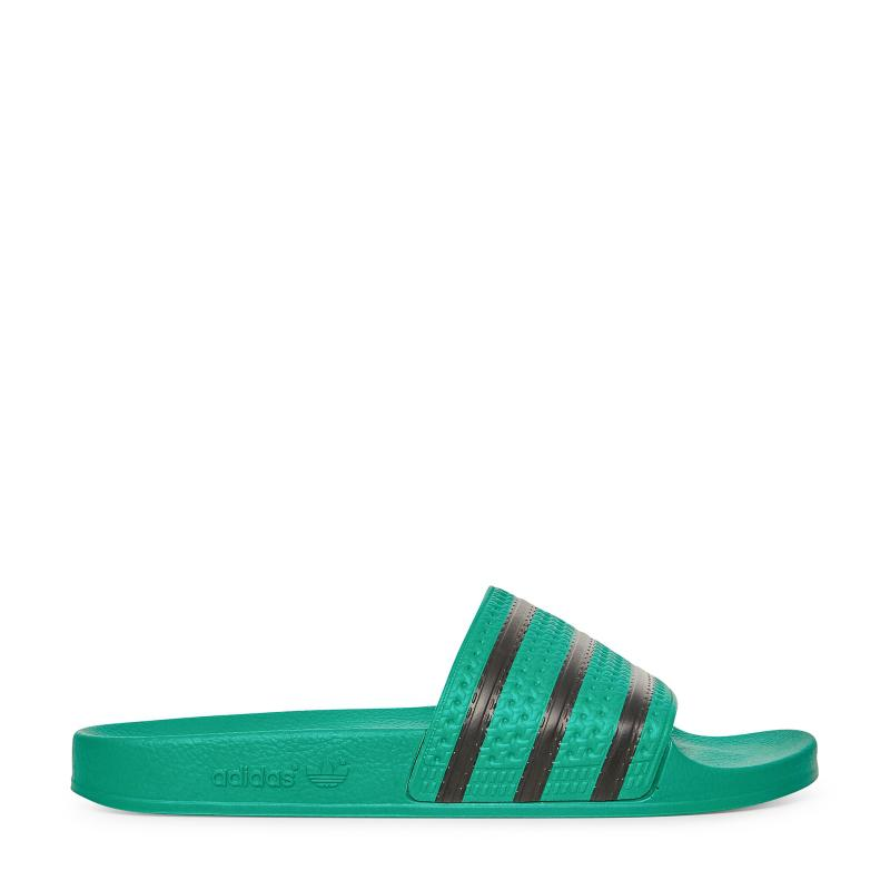 Adidas Originals Adilette Slides in Green - Lyst 28e94c872