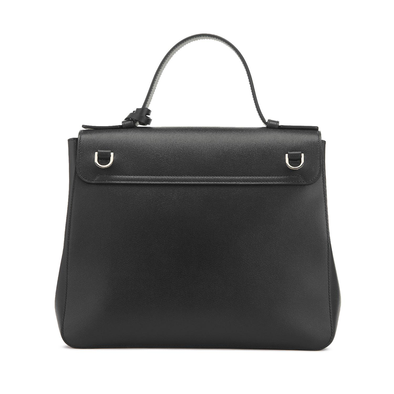 a0f2509cf56 Smythson - Black Grosvenor Top Handle Bag - Lyst. View fullscreen