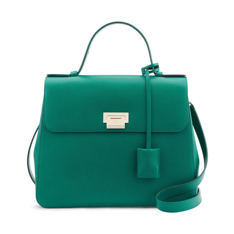 049561c93c0 Smythson Grosvenor Top Handle Bag in Green - Lyst