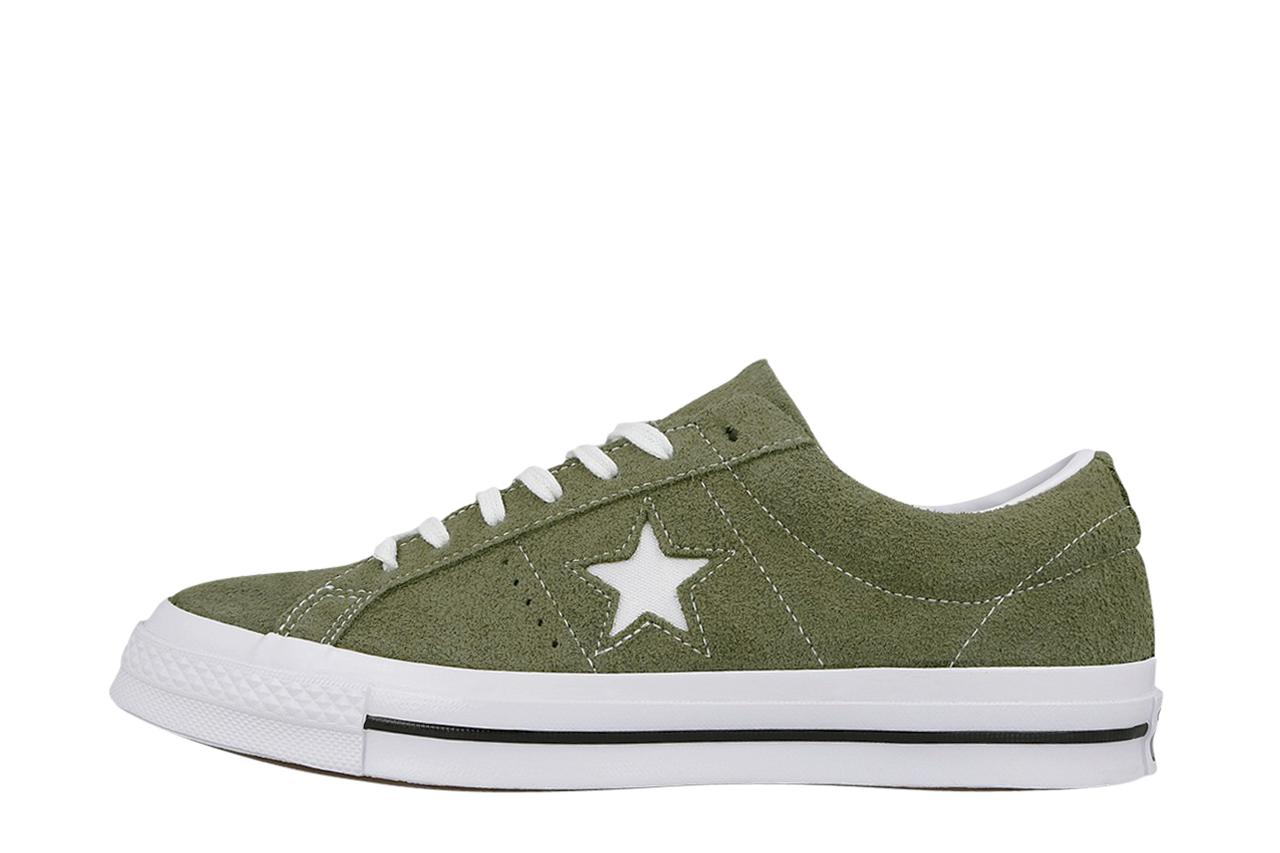 01130a840d33 Lyst - Converse One Star Vintage Suede in Green for Men