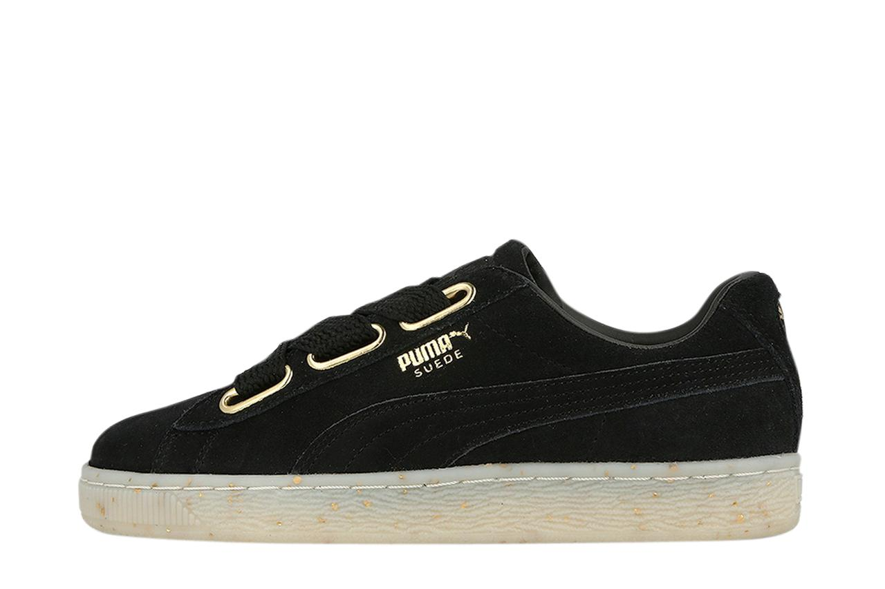 detailed look 1eec9 09c17 Lyst - PUMA Suede Heart Celebrate Wns in Black
