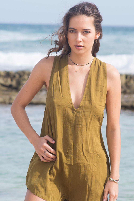 b75382a5447 Lyst - Acacia Swimwear 2018 Haiku Cotton Jumpsuit In Mustard in Green