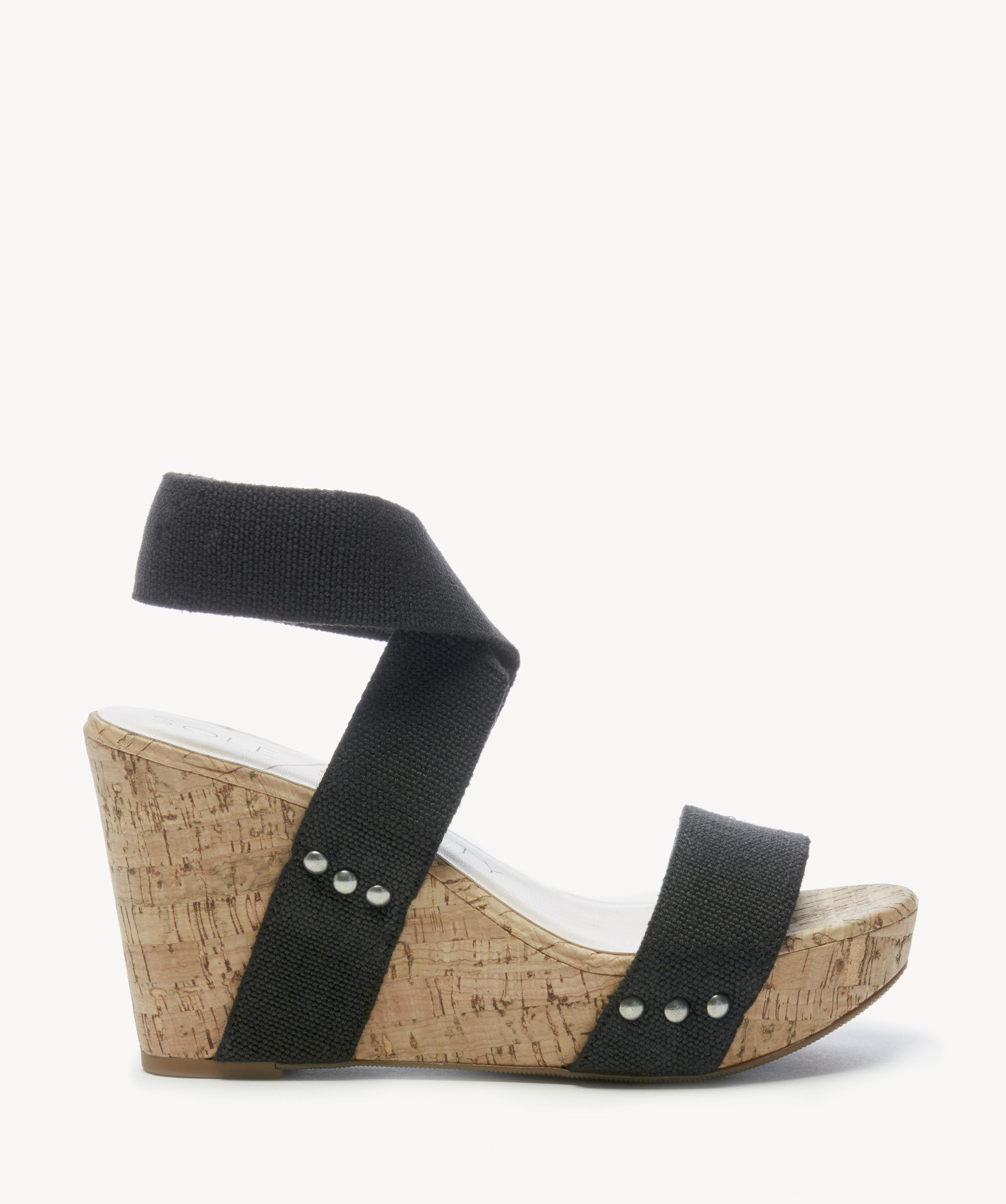 3f566ff0ee1d Sole Society - Black Analisa Platform Wedge - Lyst. View fullscreen