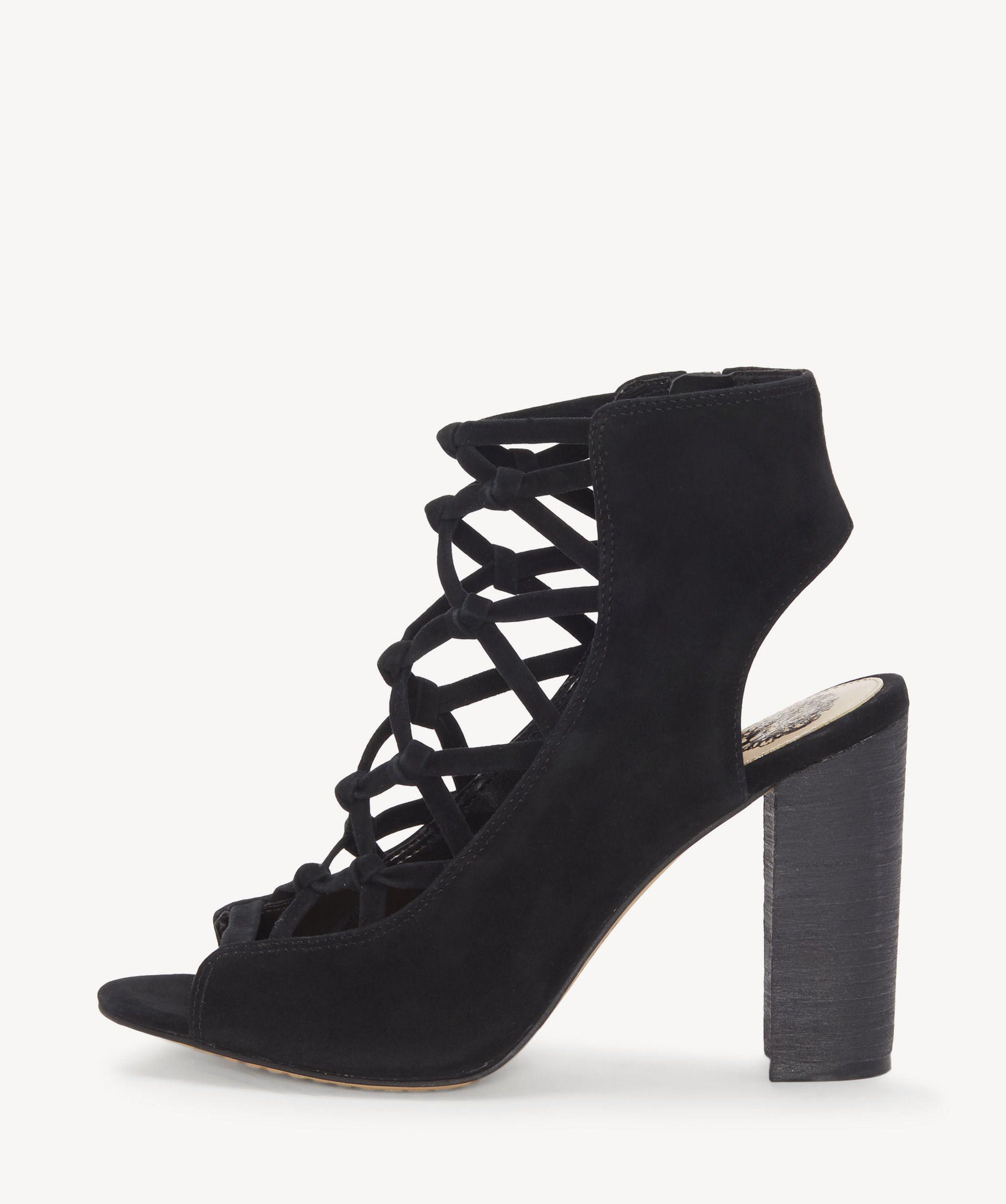 8e21e4d30090 Lyst - Vince Camuto Stesha Corset Block Heel Sandal in Black