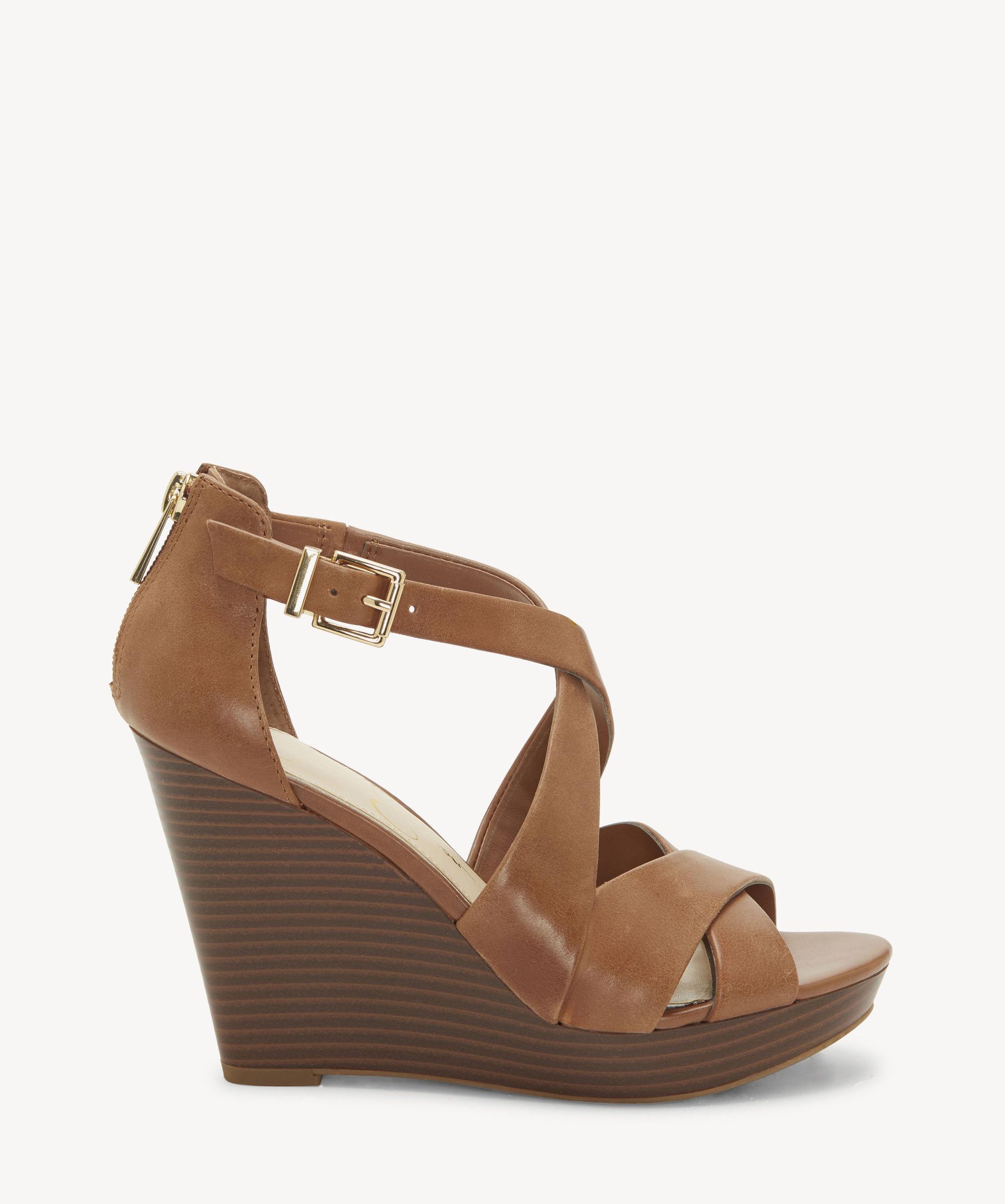 d7ac7b178d9 Lyst - Jessica Simpson Jakayla Platform Wedge Sandal in Brown