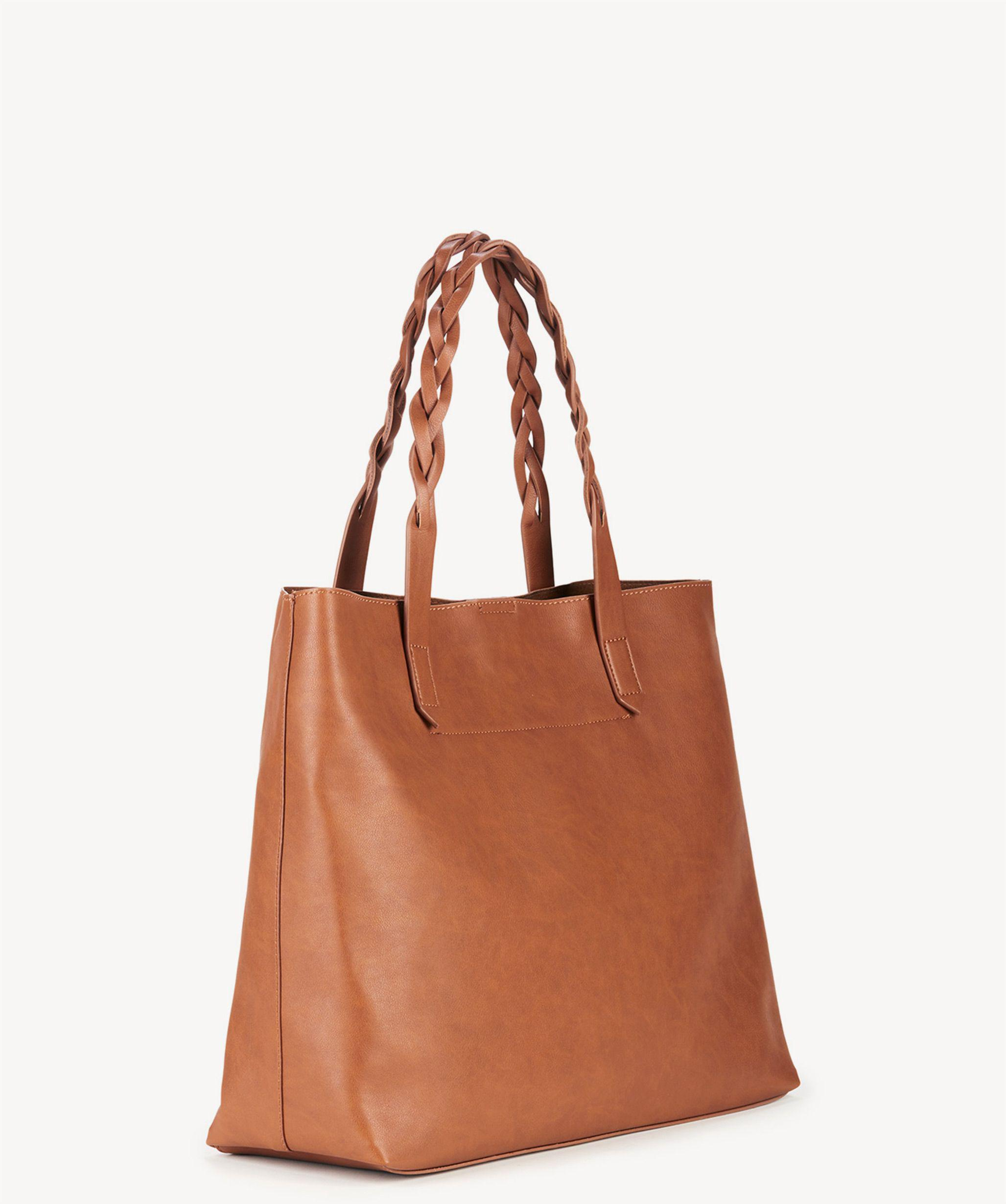 a706cdffd91c Lyst - Sole Society Amal Tote W  Braided Handles in Brown