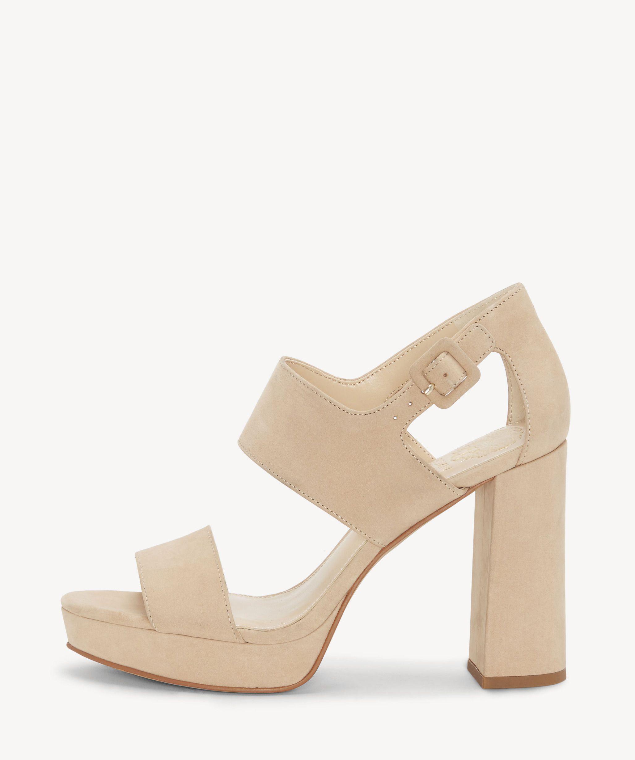 66051898b03 Lyst - Vince Camuto Jayvid Block Heel Sandal in Natural