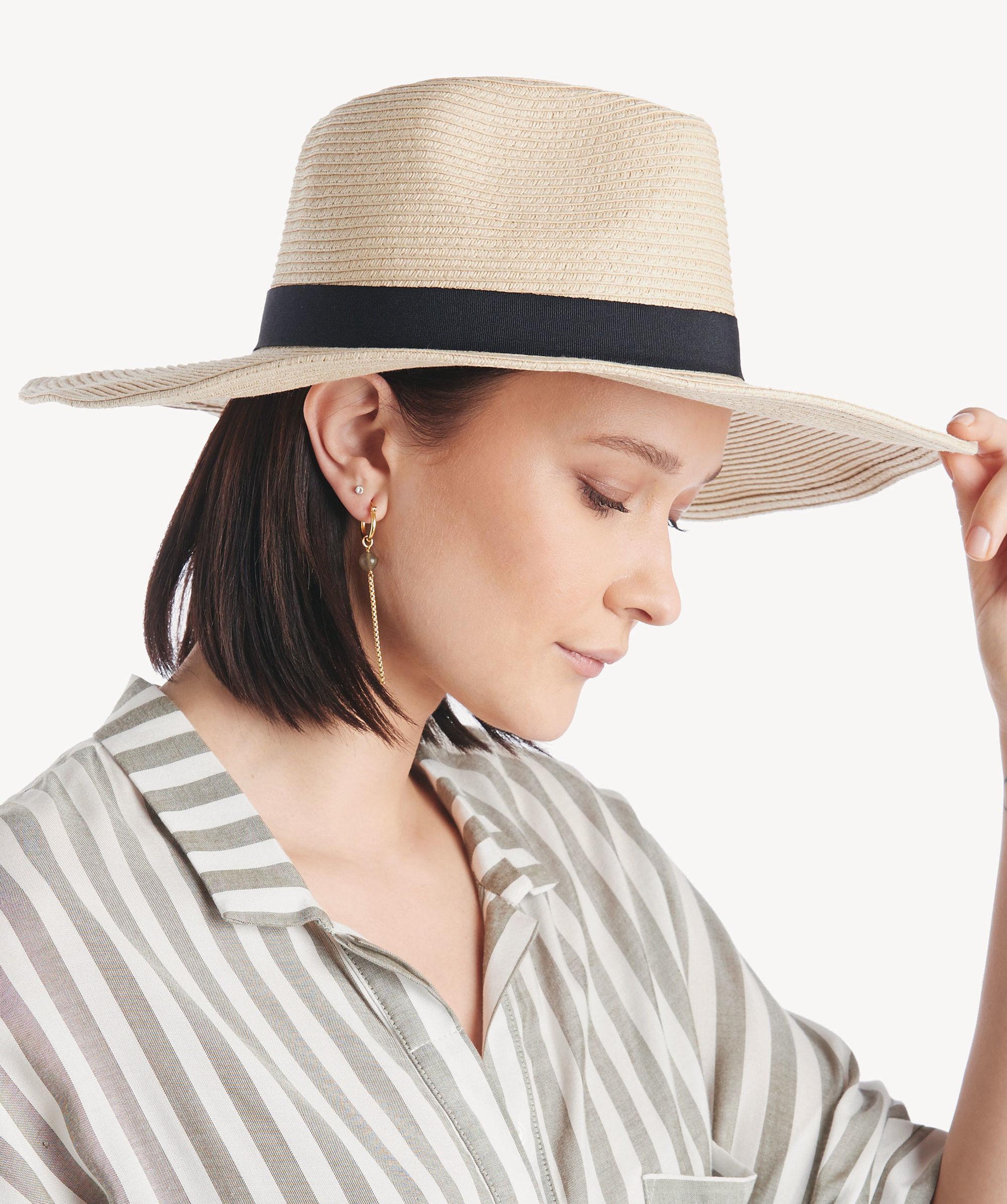 Lyst - Sole Society Wide Brim Straw Hat in Brown 2ac1ff1b910