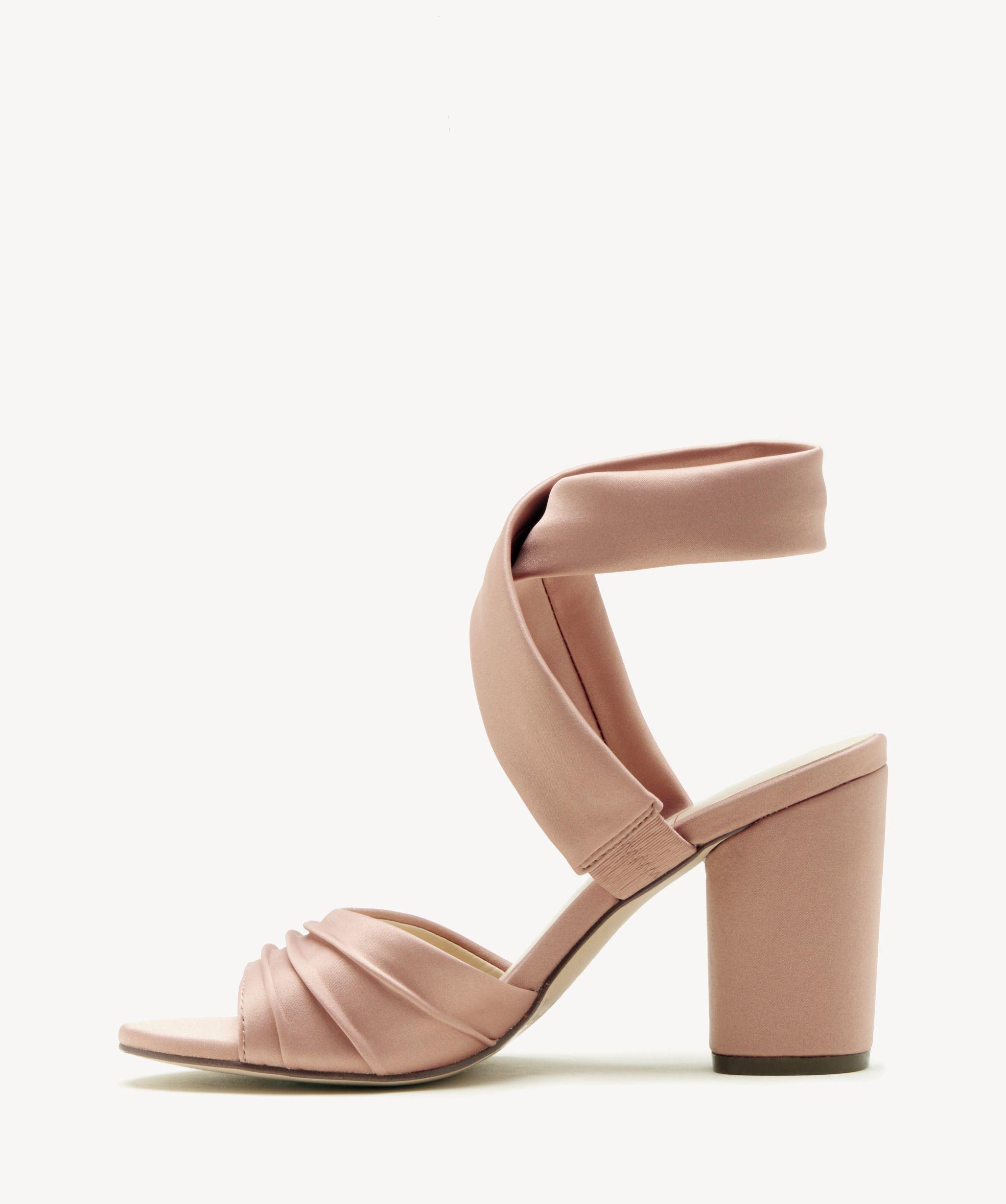 796f801f002d Lyst - Sole Society Selbie Satin Block Heel Sandal