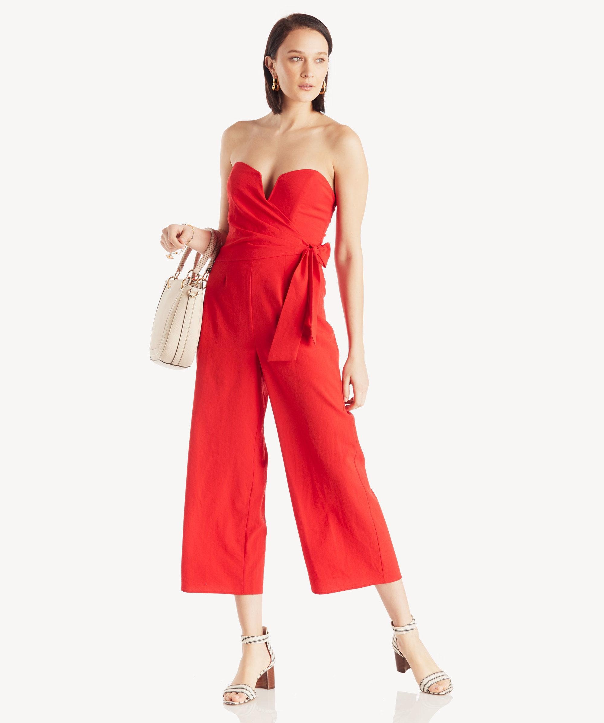 72ce52dc2a4 Lyst - Astr Zion Jumpsuit Fire Red in Red - Save 1%