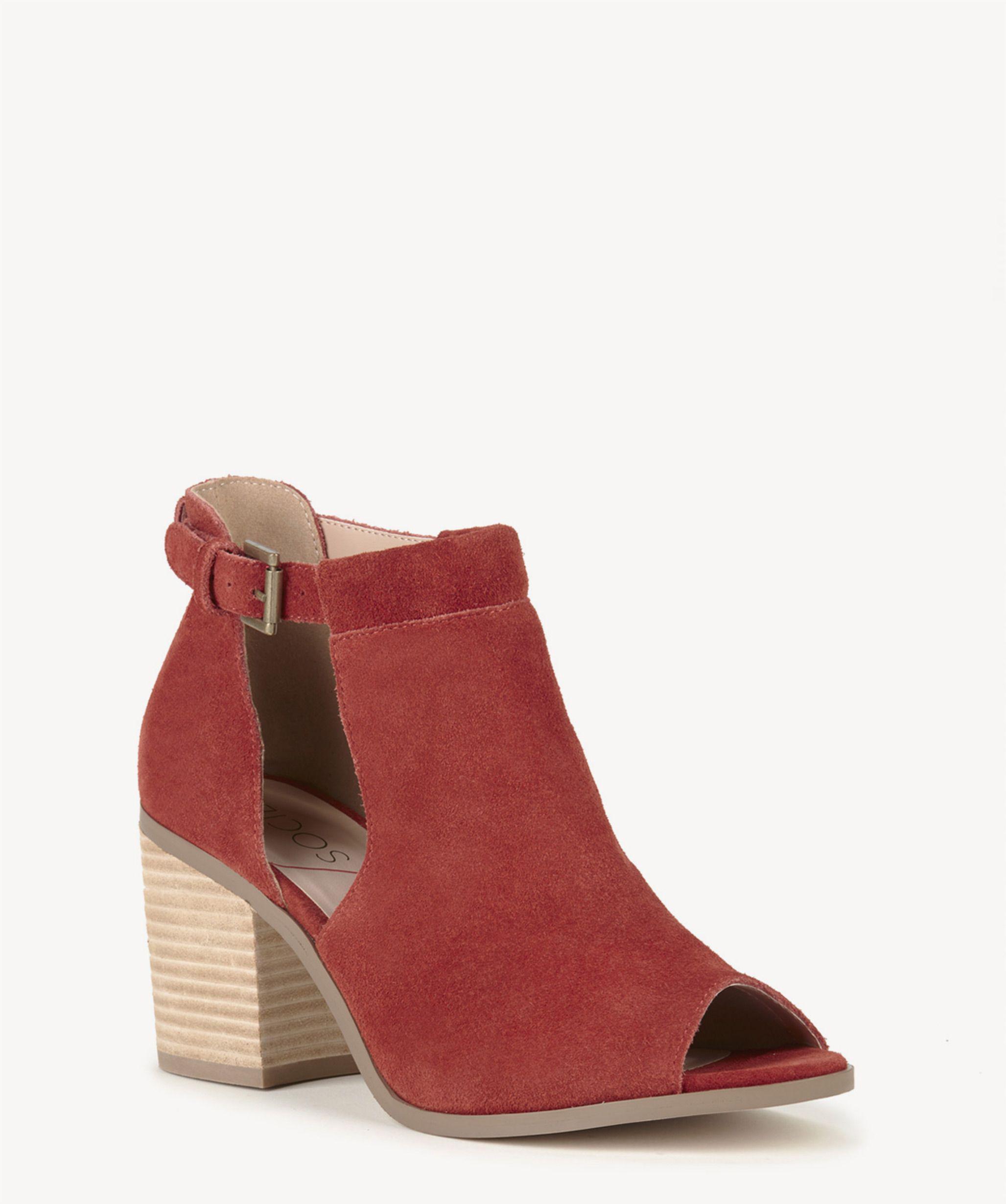418729d82a3 Lyst - Sole Society Ferris Block Heel Sandal in Red