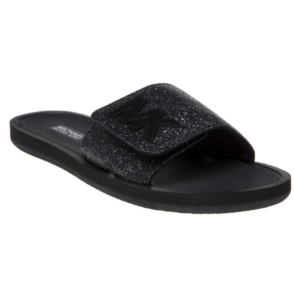 049cbc86cf3f Michael Kors Pixie Slide Sandals in Black - Lyst