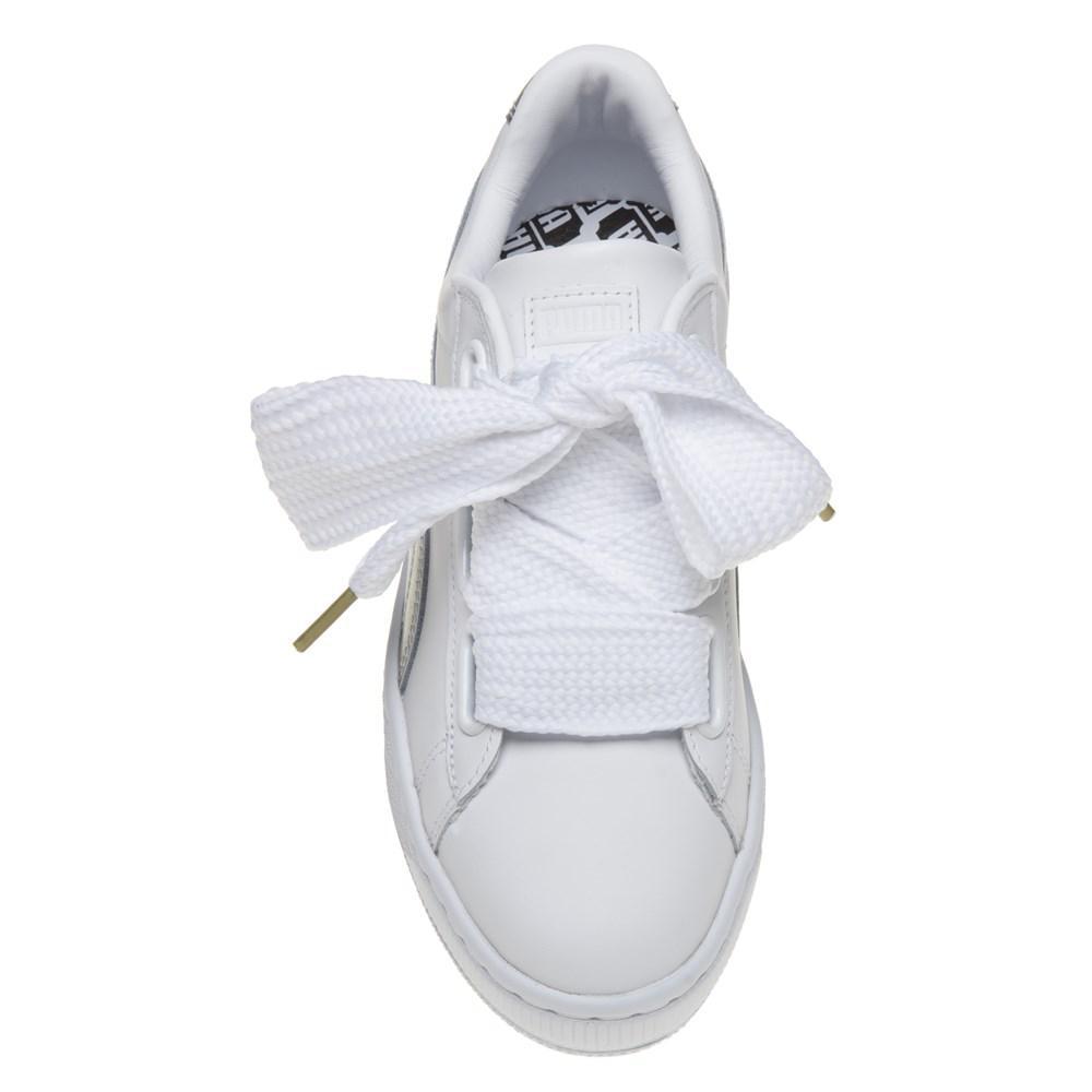 2231e043f74 PUMA Basket Heart Sneaker in White - Lyst