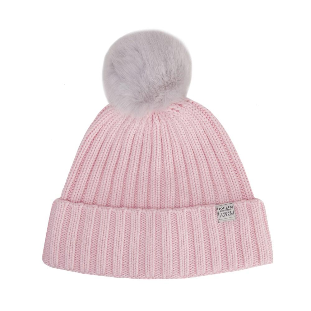 2fabb186814 Joules Pop-a-pom Beanie in Pink - Lyst