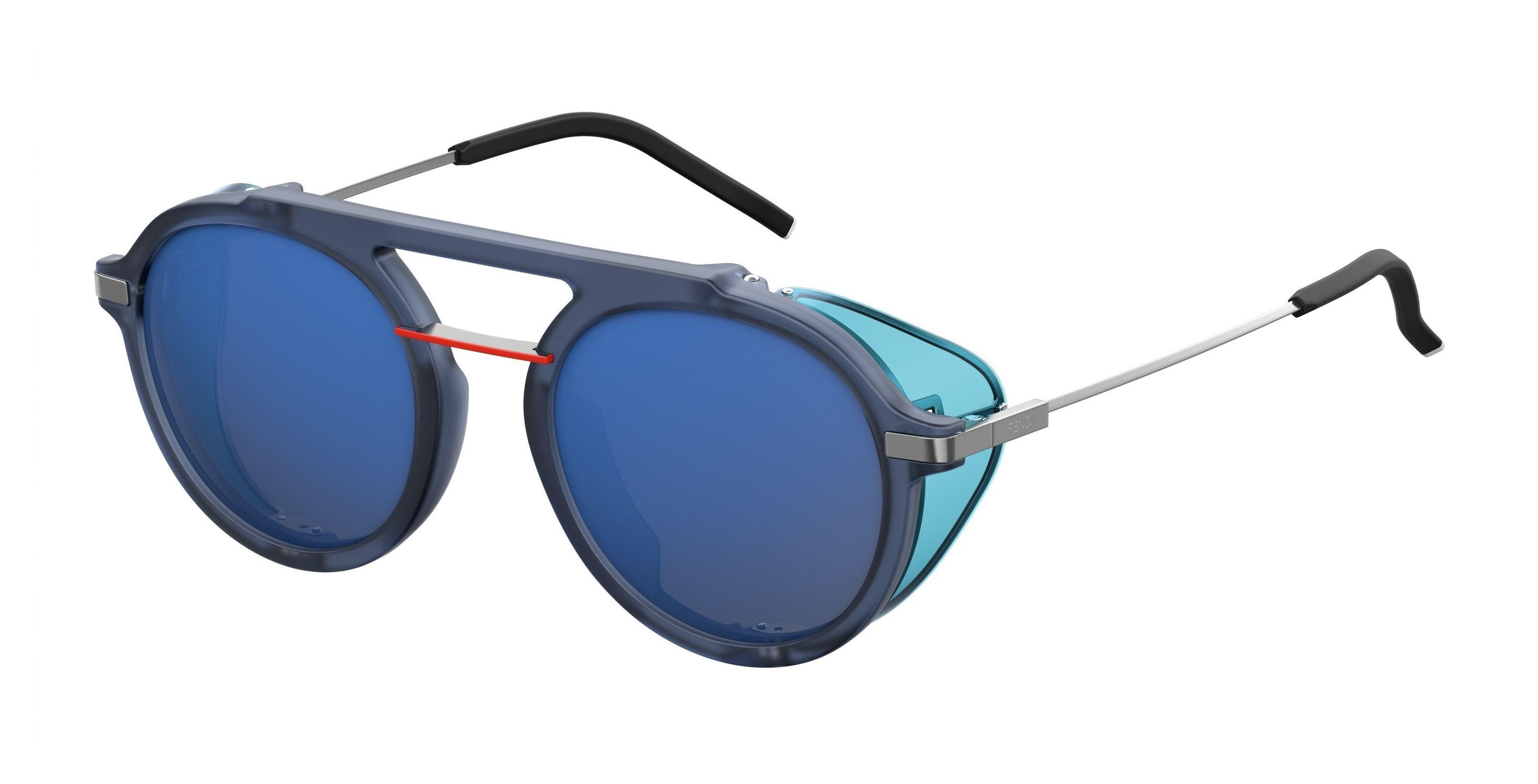 5f2c6be0d04 Fendi - Blue 0012 s Aviator Sunglasses for Men - Lyst. View fullscreen