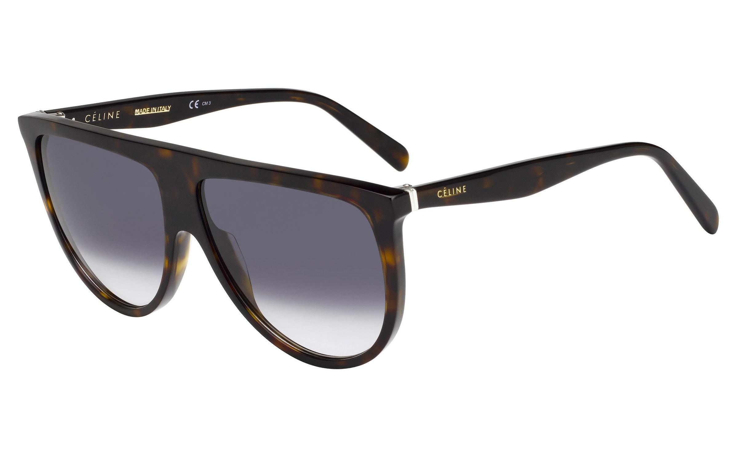 83ae6ebcf345 Lyst - Céline Thin Shadow 41435 Shield Sunglasses in Black
