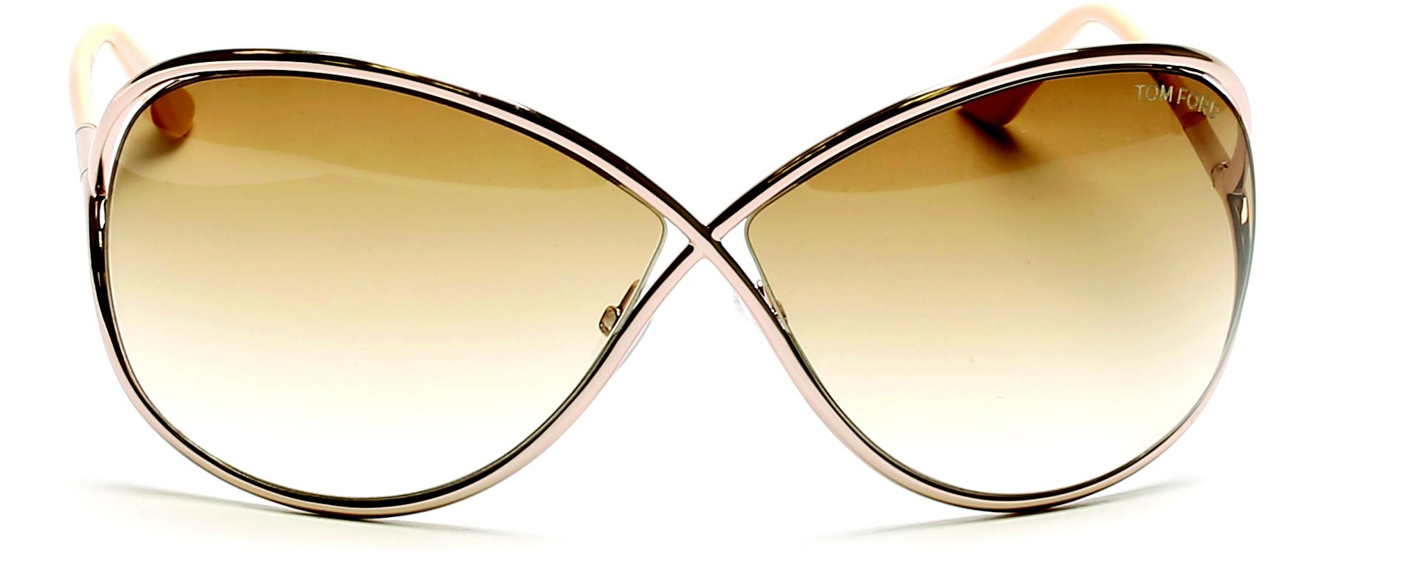 45179647d2f7 Tom Ford - Brown 0130 Miranda Round Around Sunglasses - Lyst. View  fullscreen