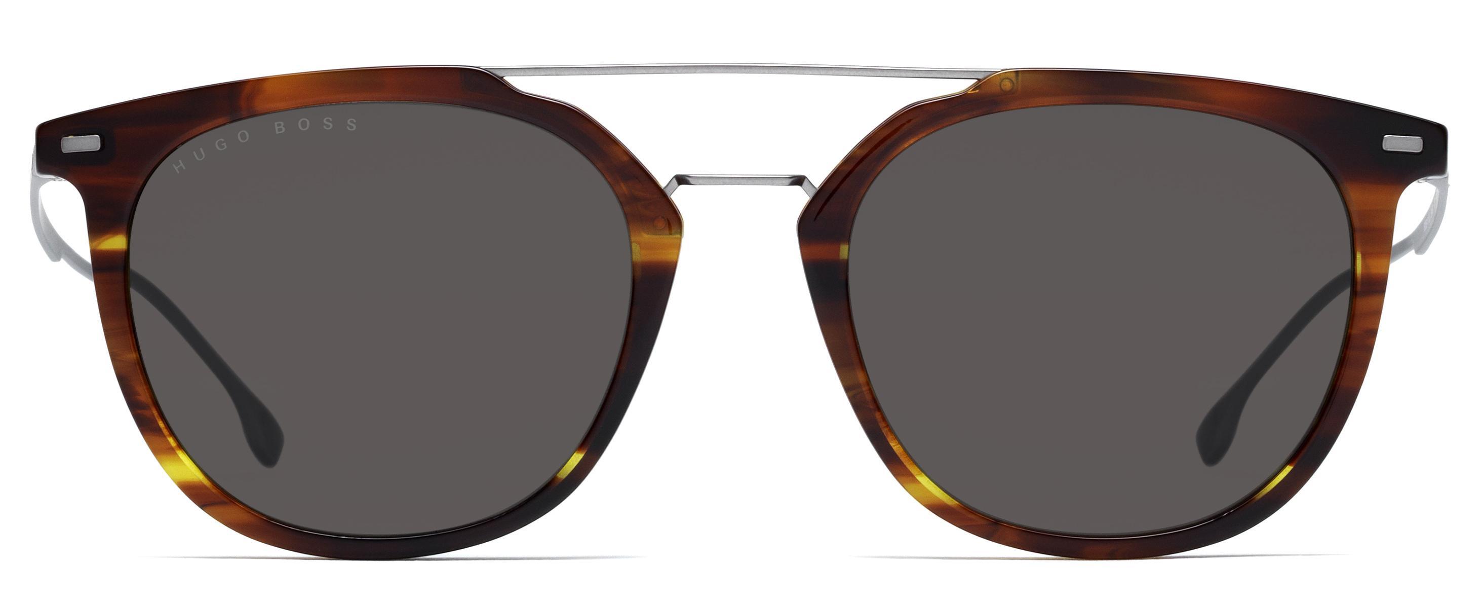 ab48683b6d21 Lyst - BOSS Black Hugo Boss 1013s Men's Round Sunglasses in Brown