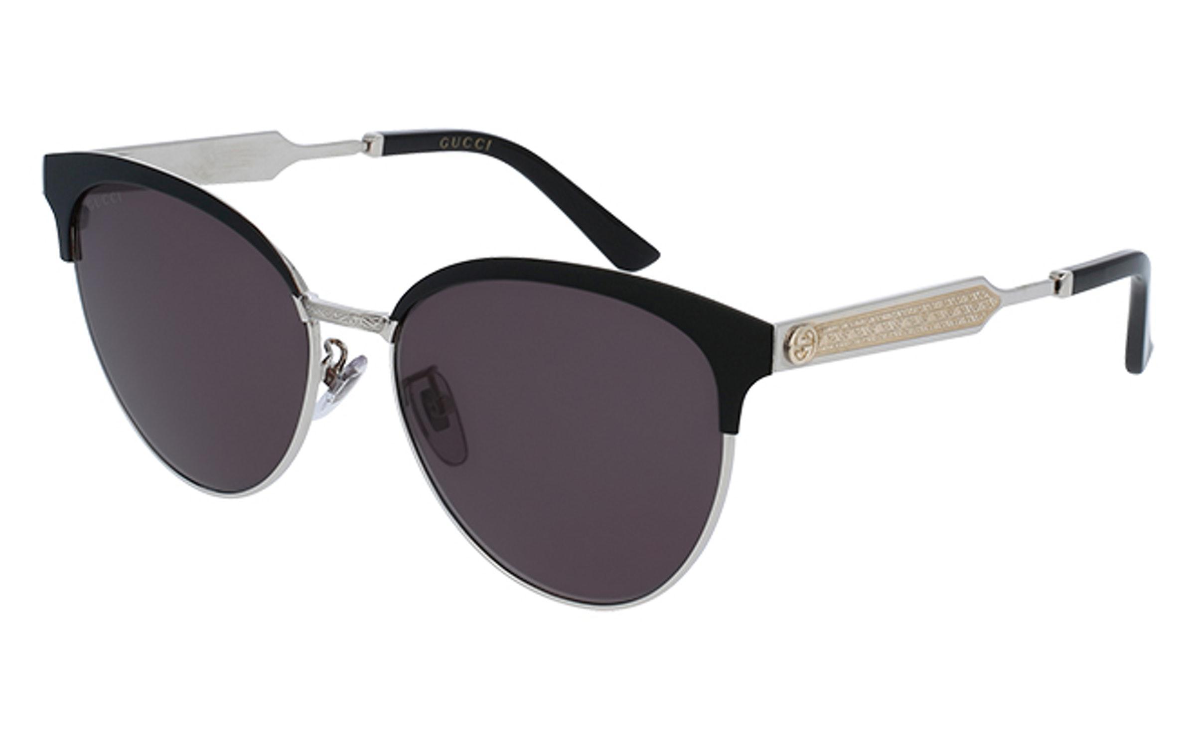 2efa97e5817 Lyst - Gucci Gg 0074 Cat Eye Sunglasses in Black