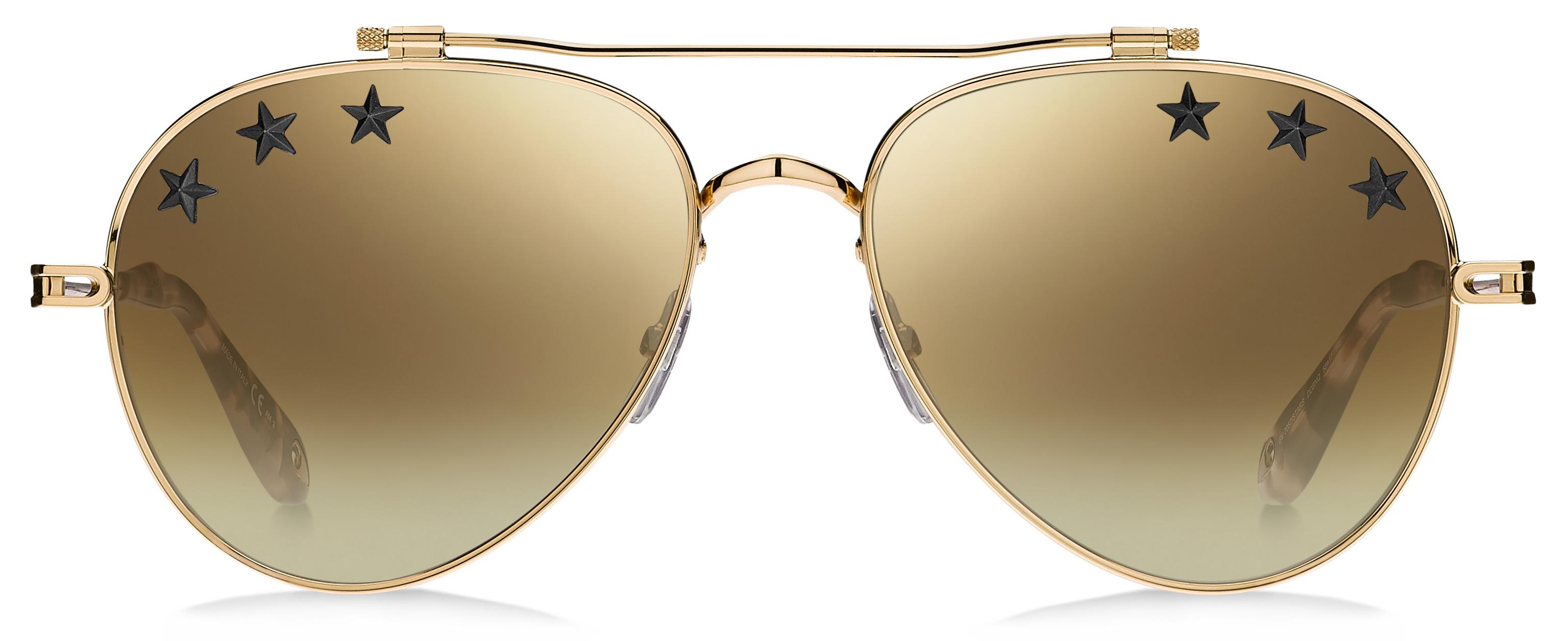 48224ab5d173 Lyst - Givenchy Gv7057 Stars Aviator Sunglasses in Metallic