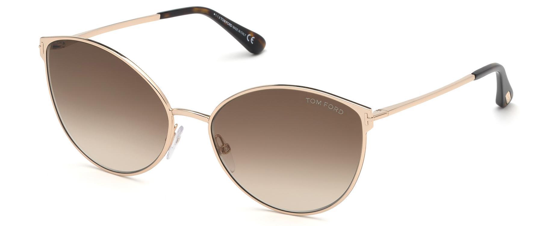 5430723aaf1 Tom Ford - Brown 0654 Zeila Cat Eye Sunglasses - Lyst. View fullscreen