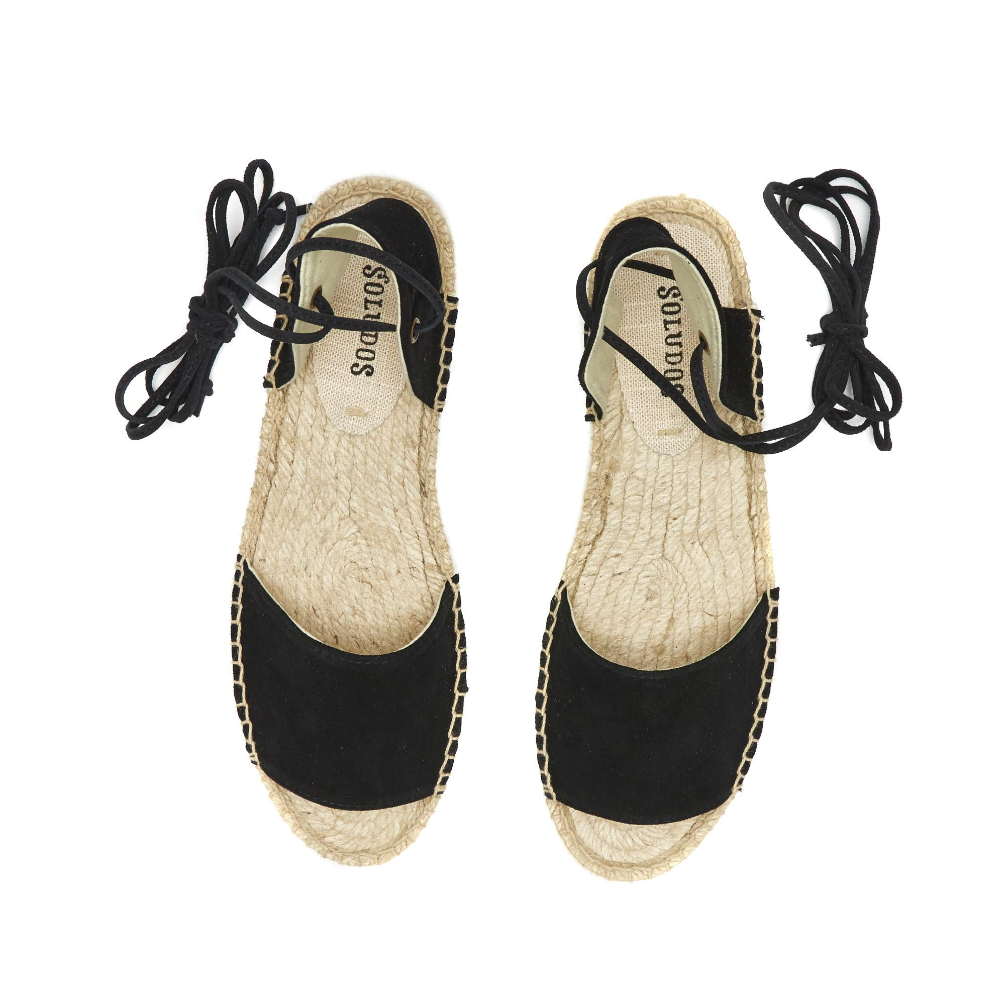 9542177dd7a9 Lyst - Soludos Suede Balearic Tie-up Sandal in Black