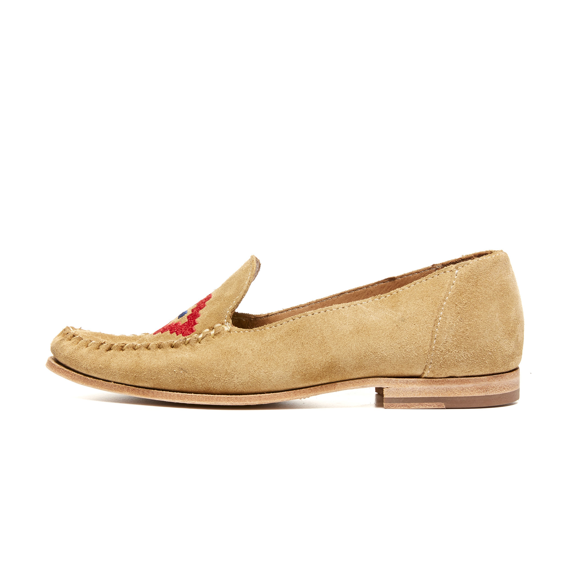 Natural Stone Suede Loafers