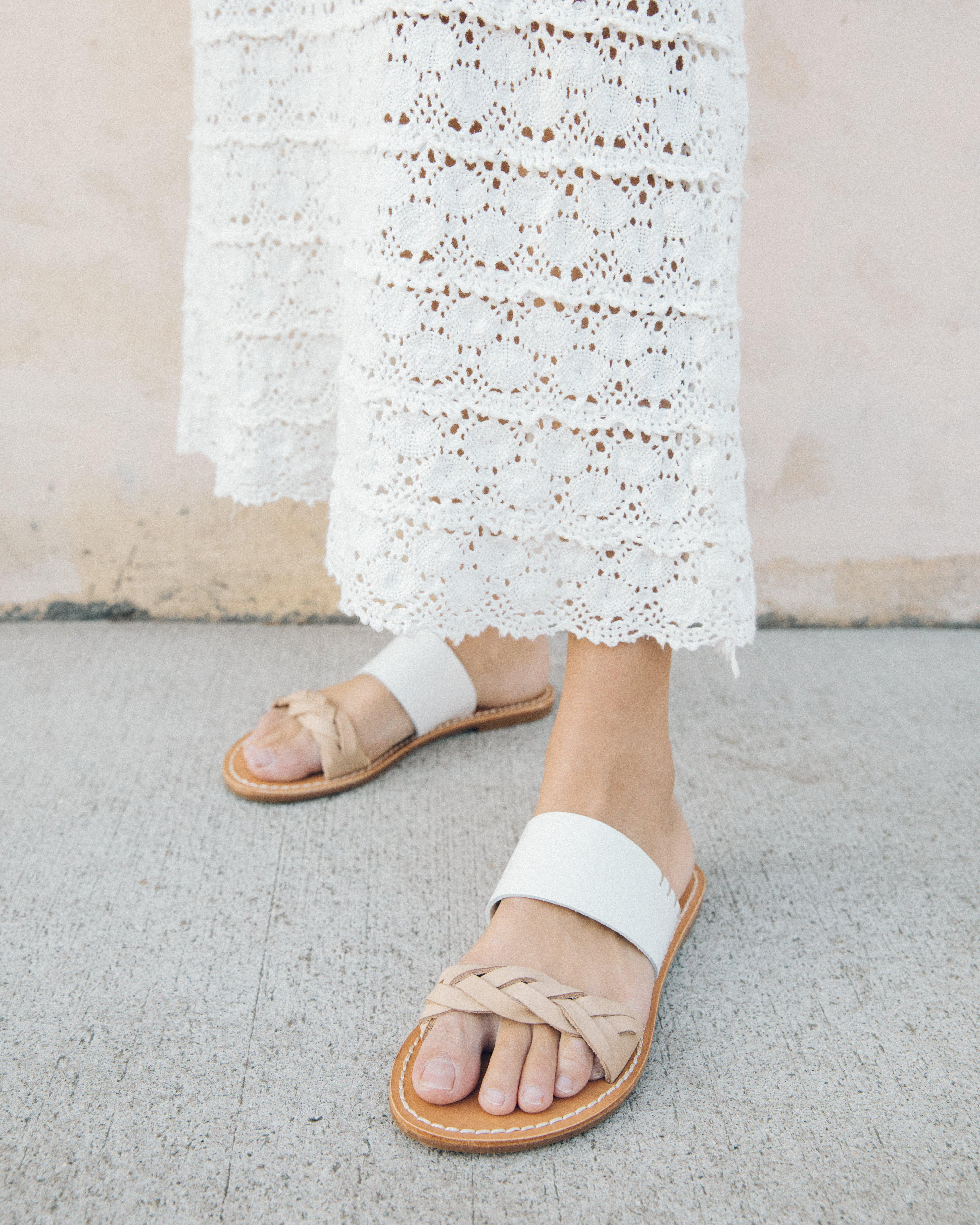 eed1b99a4766 Lyst - Soludos Braided Slide Sandal in White