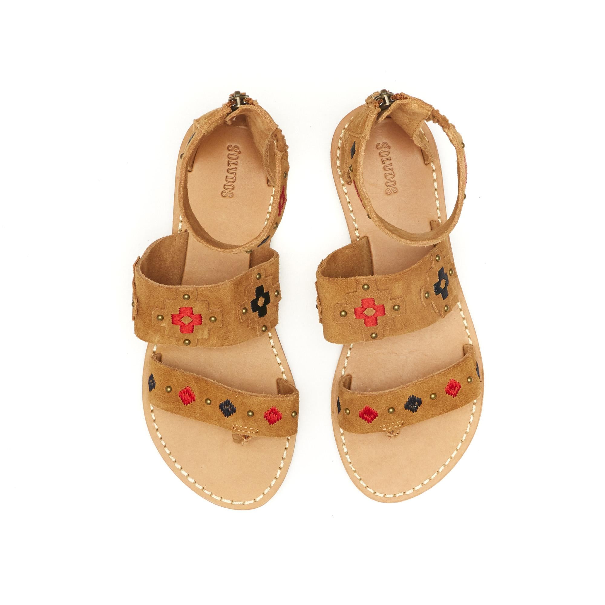 Soludos Embroidered Three Banded Sandal XuAoDKK9z