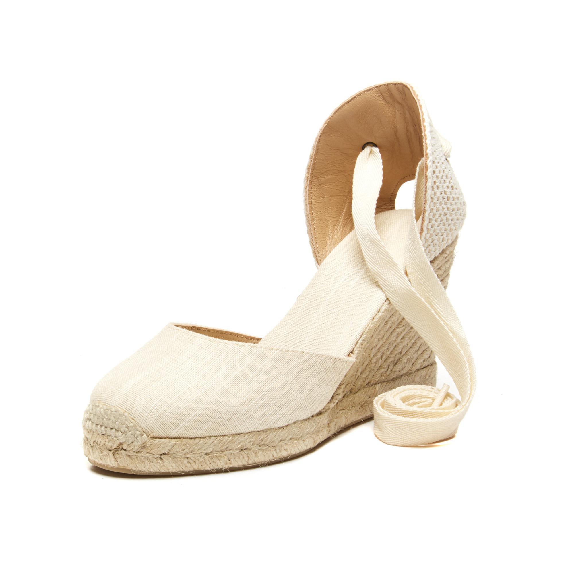 644a1daaa74 Lyst - Soludos Linen Espadrille Tall Wedge Sandal